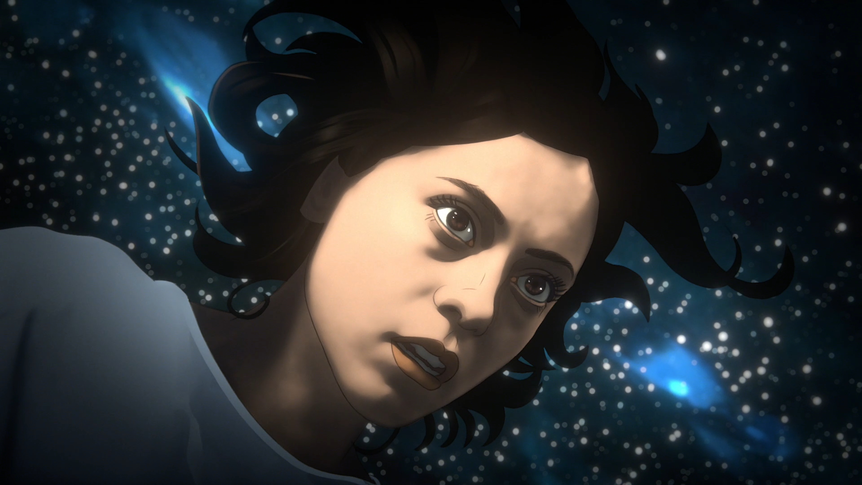 Alma floats through space as her mind reels from a crash in Undone
