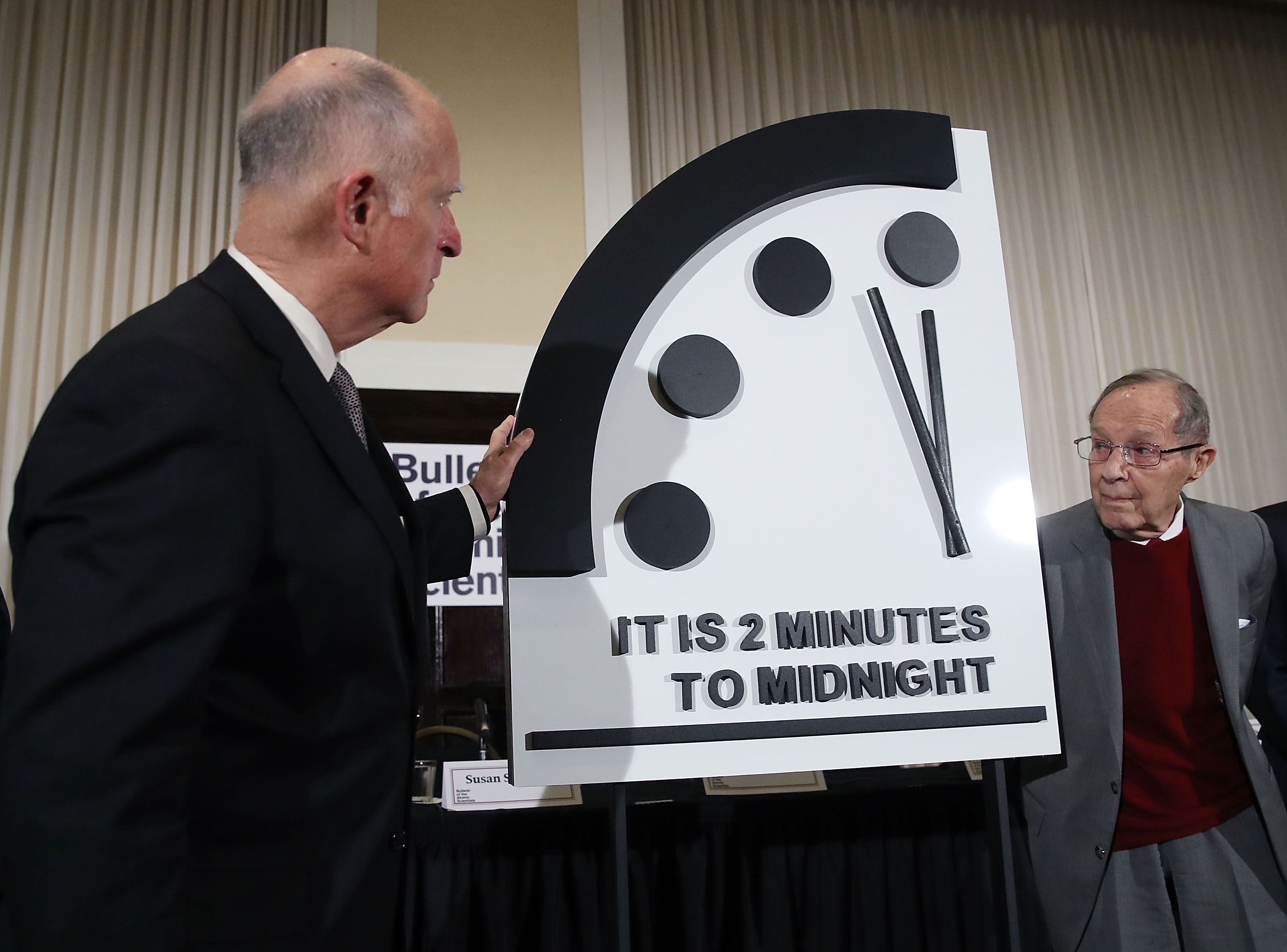 Bulletin Of The Atomic Scientists Hold Annual News Conference To Announce Adjustment To Doomsday Clock