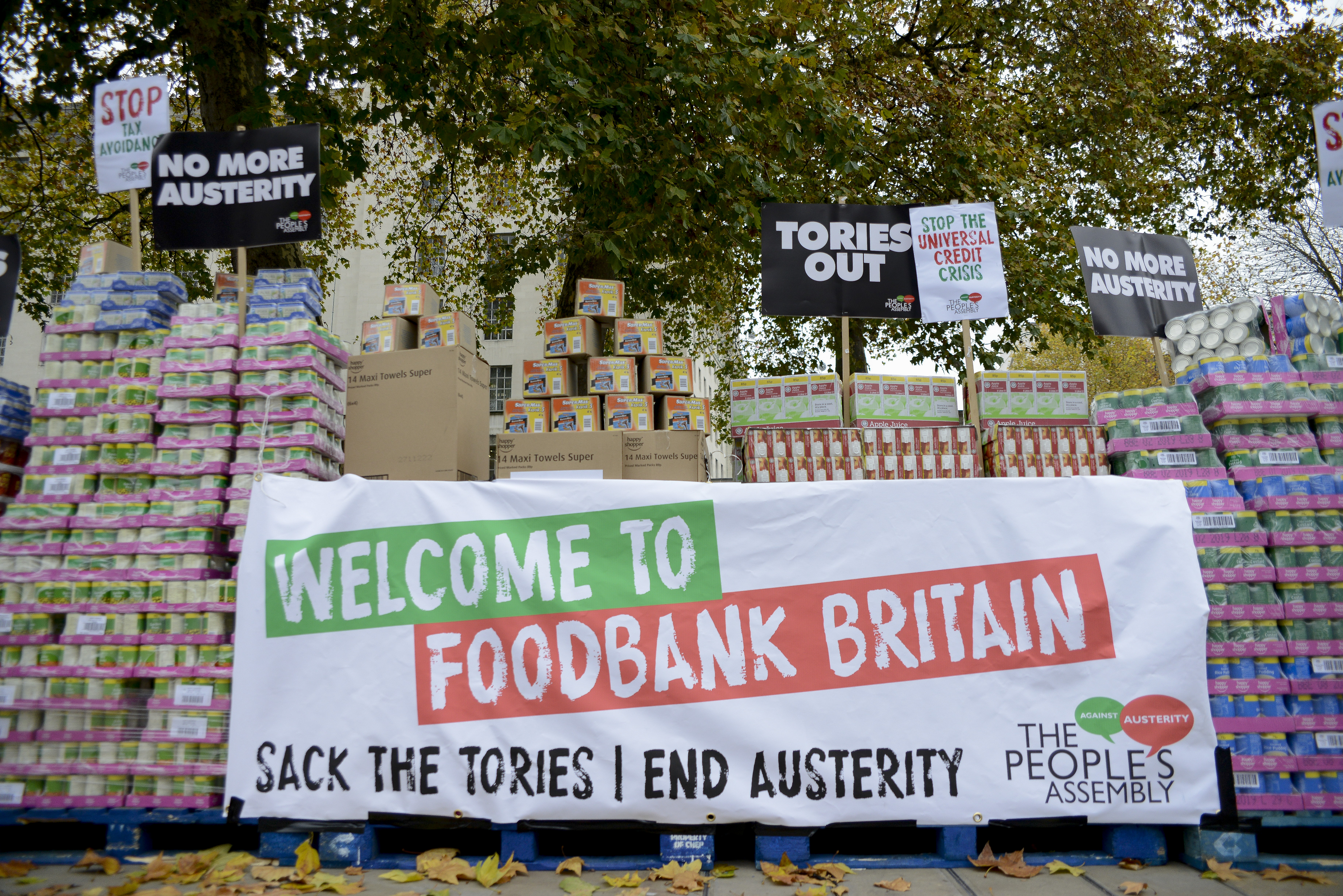 Anti Austerity Protest At Downing Street