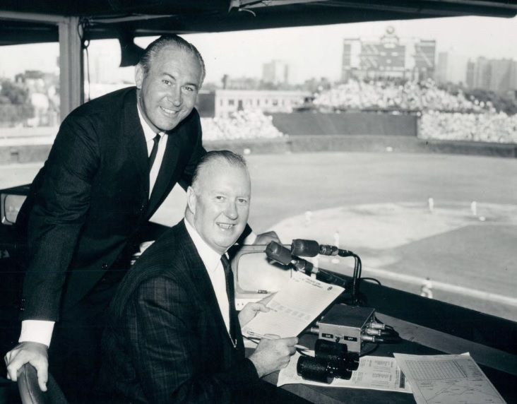 Lloyd Pettit and Jack Brickhouse are two of the many famous announcers who broadcast sports on WGN TV.