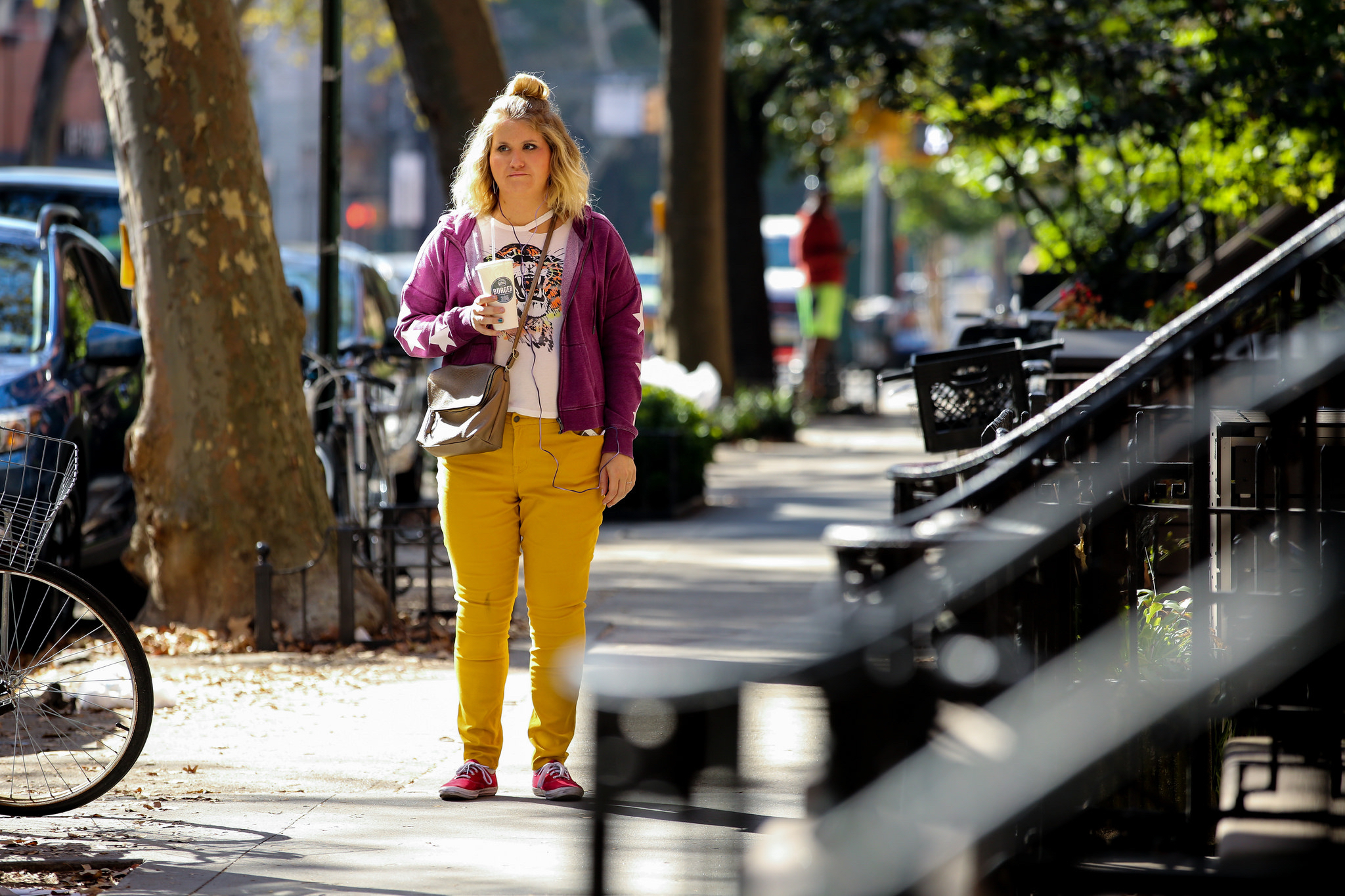 "Jillian Bell in a scene from the film ""Brittany Runs a Marathon."""