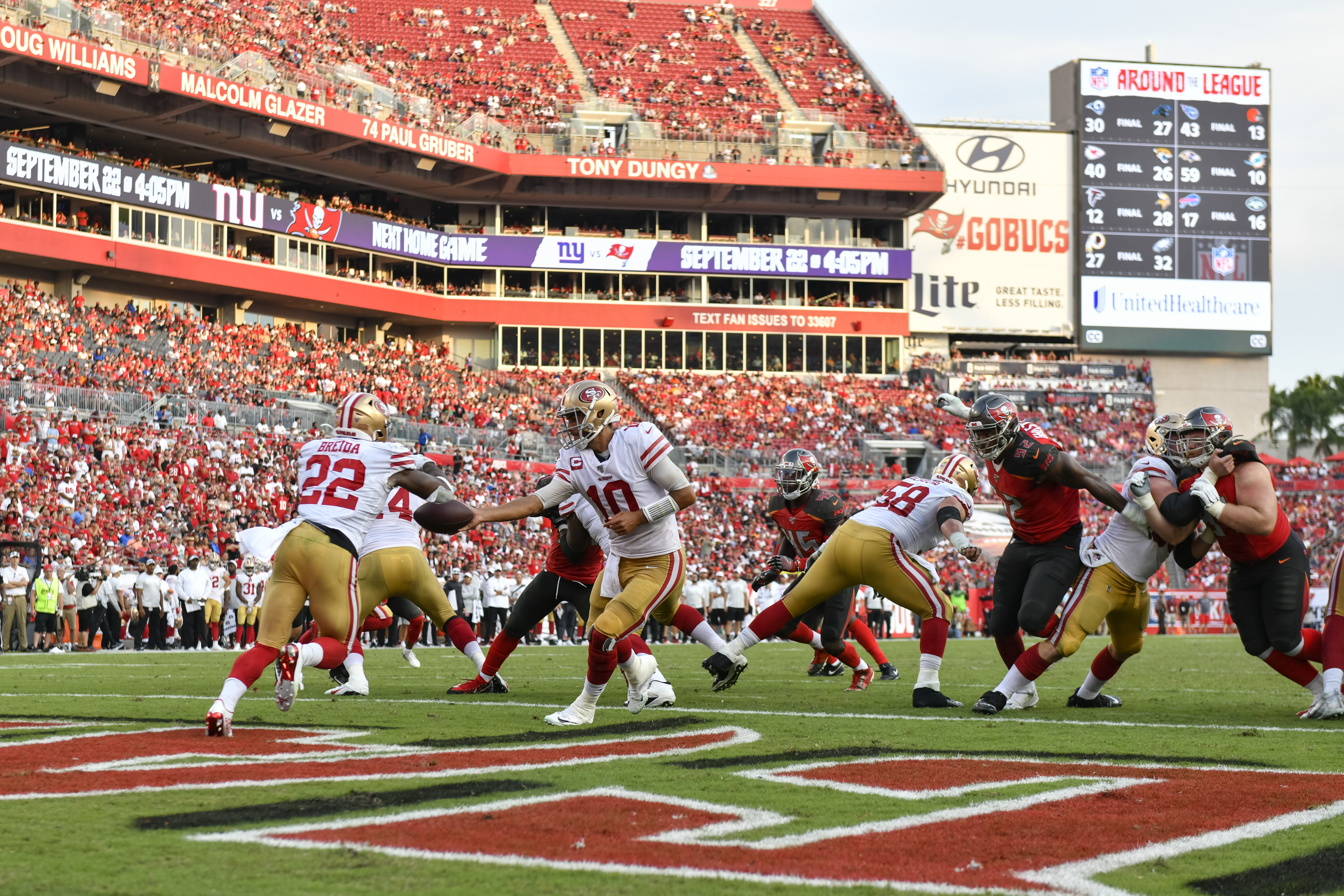 NFL: SEP 08 49ers at Buccaneers