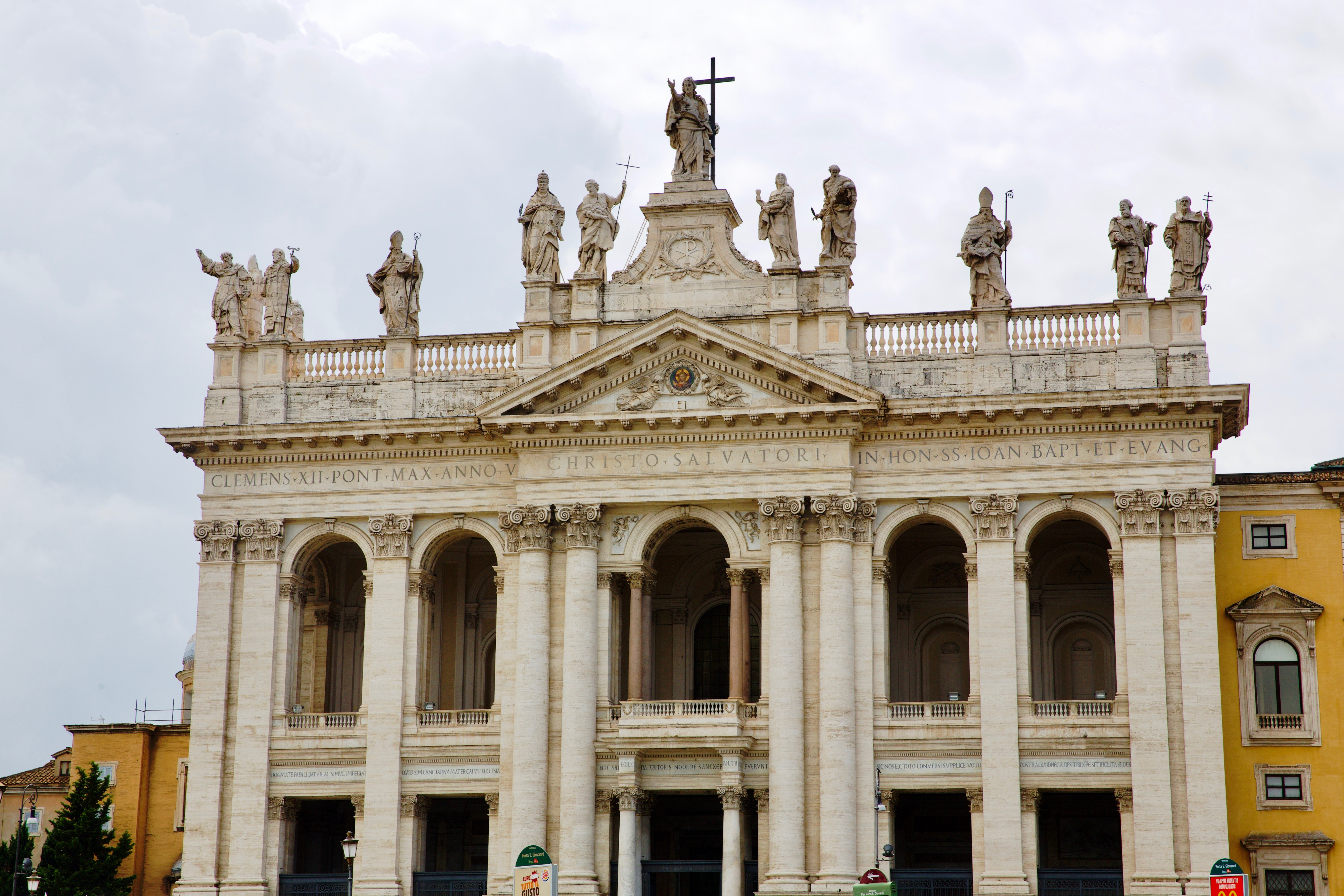 The Cathedral of the Most Holy Savior and of Saints John the Baptist and the Evangelist in the Lateran in Rome is also known as the Archbasilica of St. John Lateran.