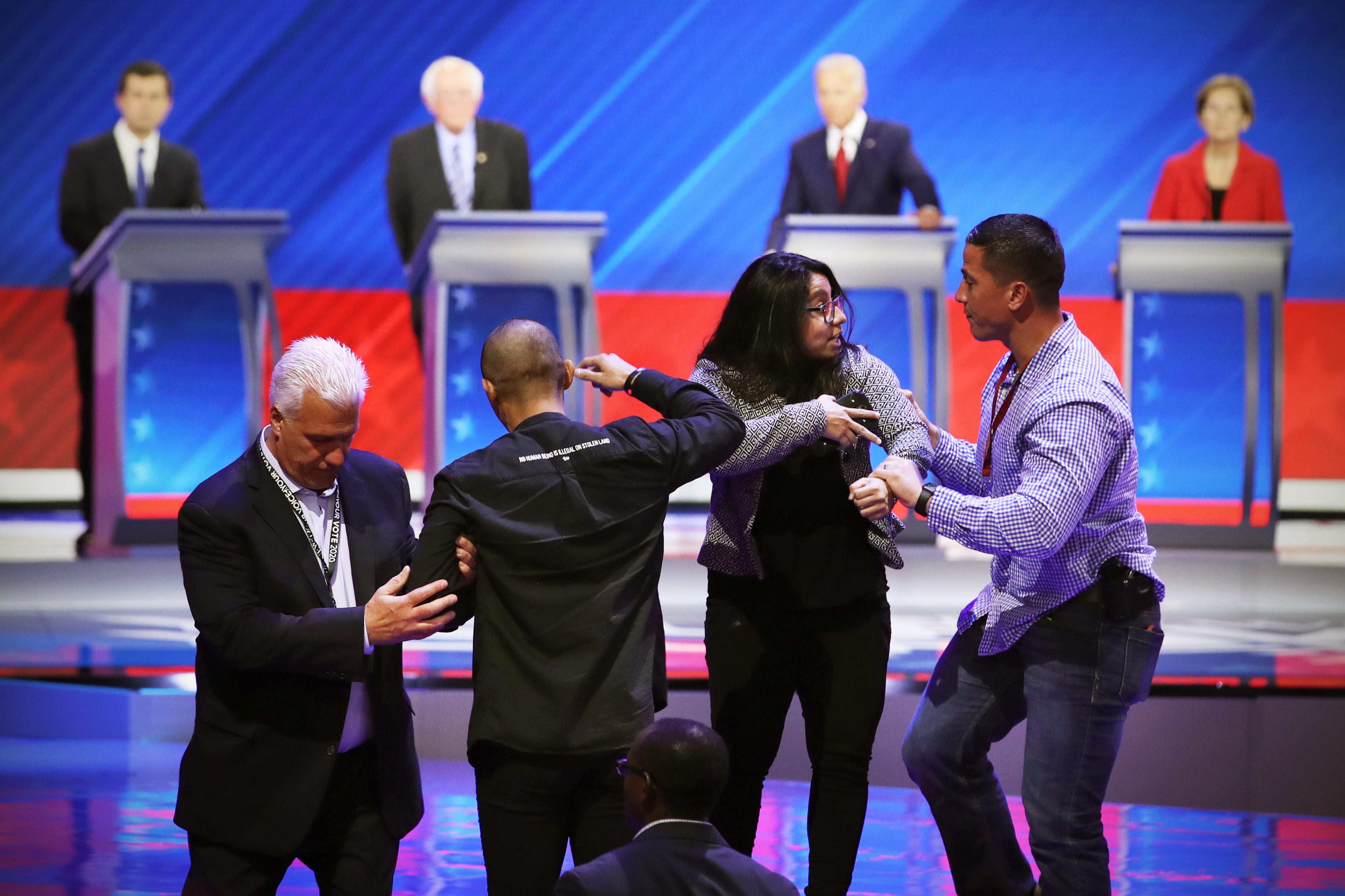 The Democratic debate protesters were DACA recipients
