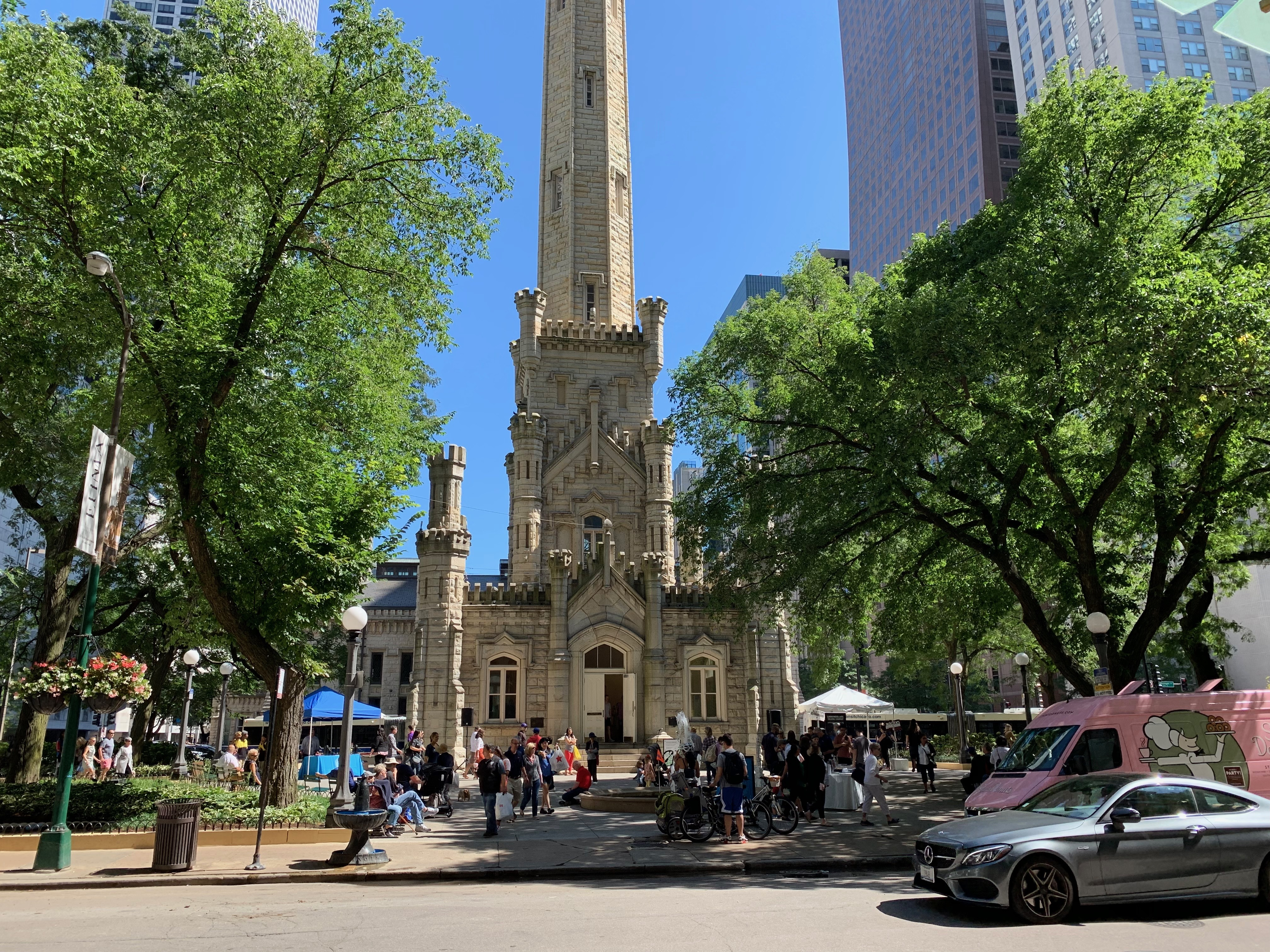 The iconic Chicago Water Tower, 806 N. Michigan Ave., turns 150 this month. The city celebrated on Saturday with a series of art, lectures and more about its history.