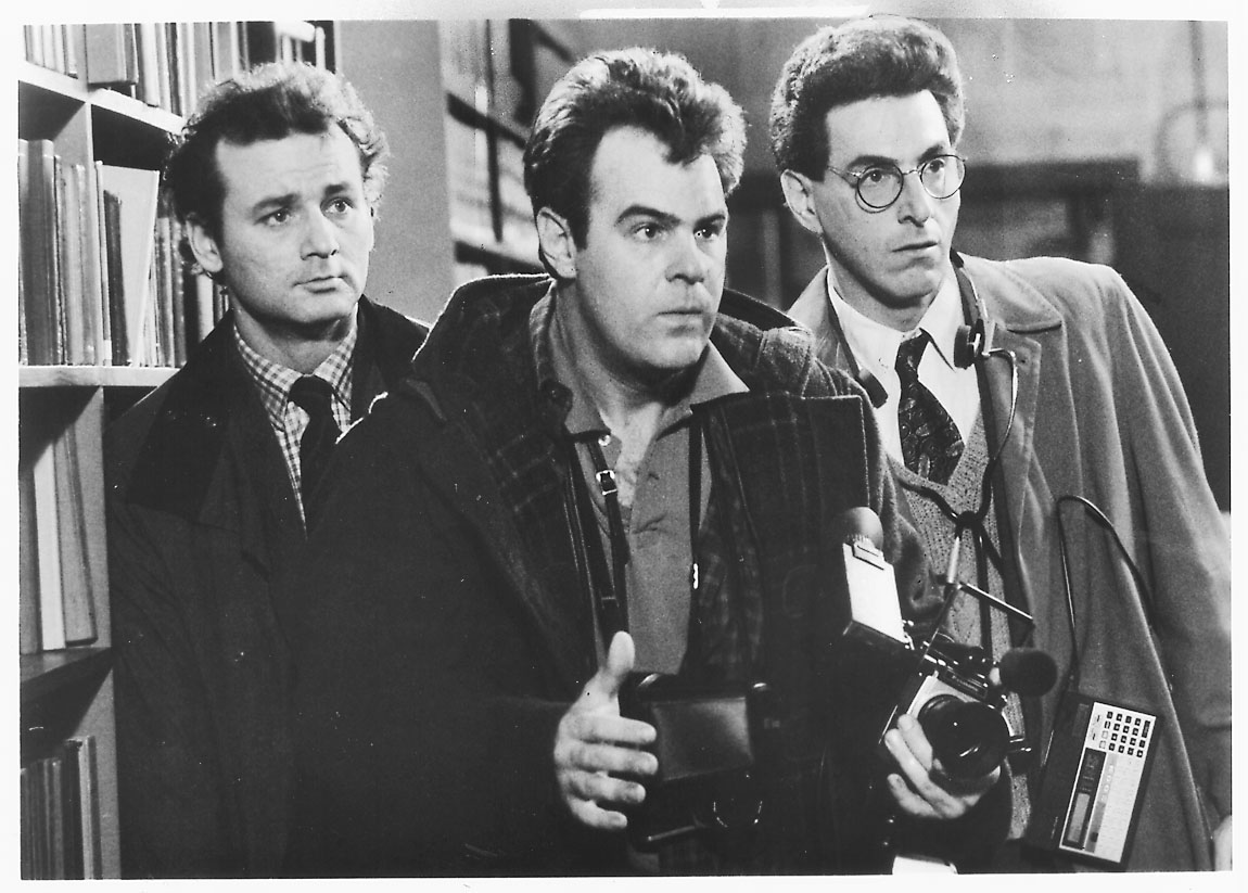 "Bill Murray (from left) Dan Aykroyd and Harold Ramis in ""Ghostbusters."""