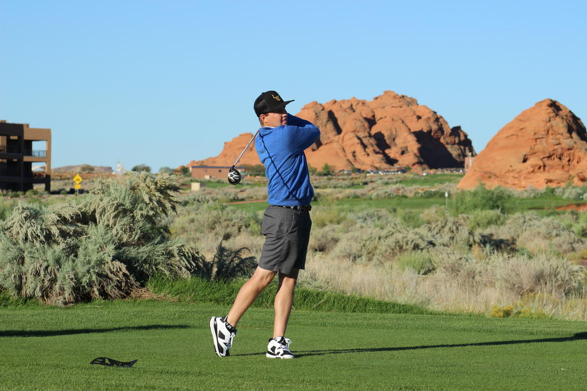 Former BYU golfer Zac Blair shot a 7-under 65 at the Sand Hollow Open on Friday.