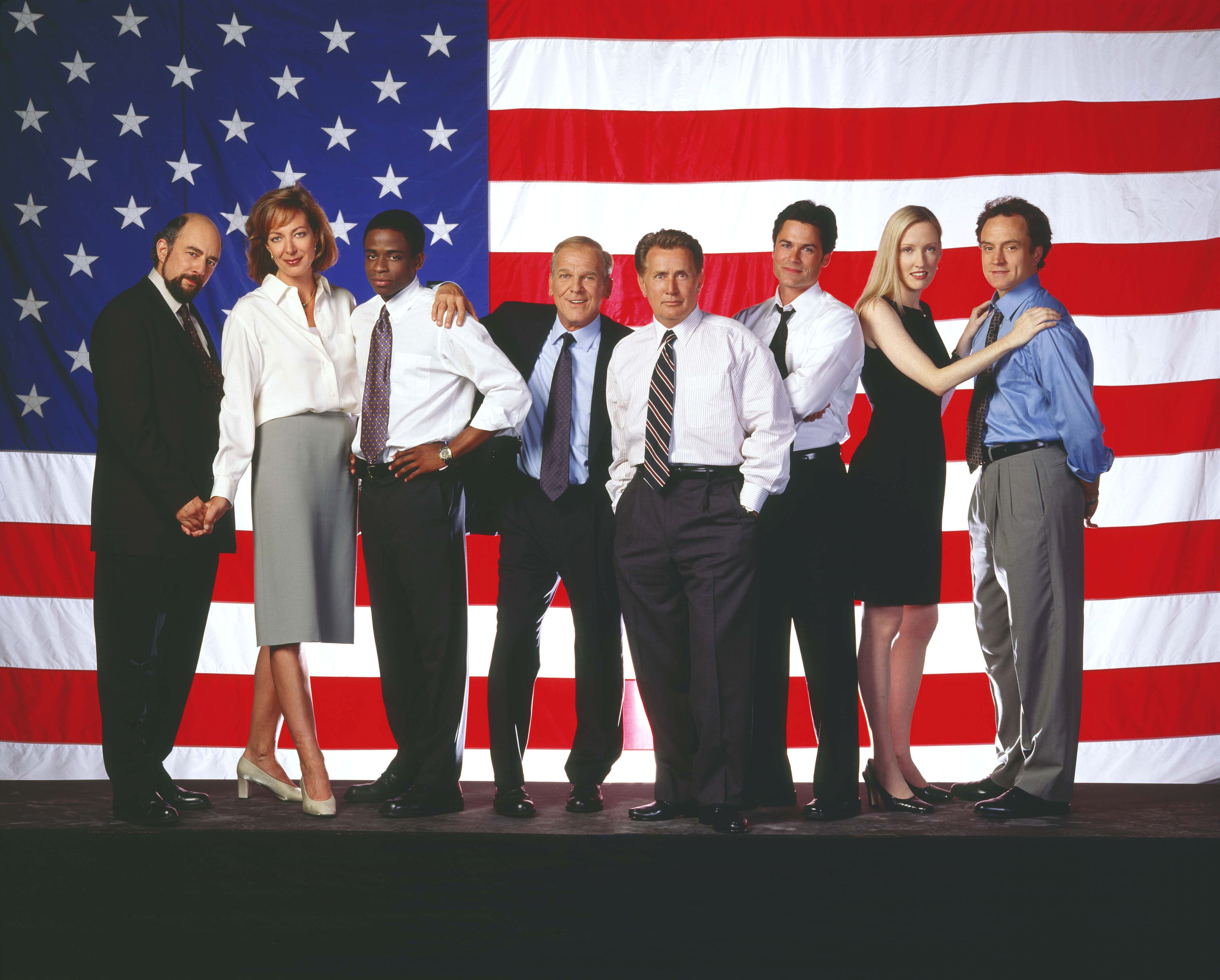 The cast of the The West Wing