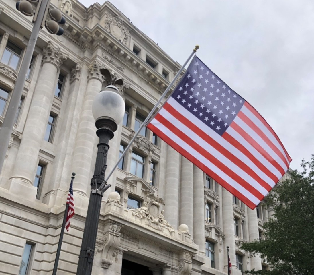 D.C. puts up 51-star American flags on Pennsylvania Avenue NW