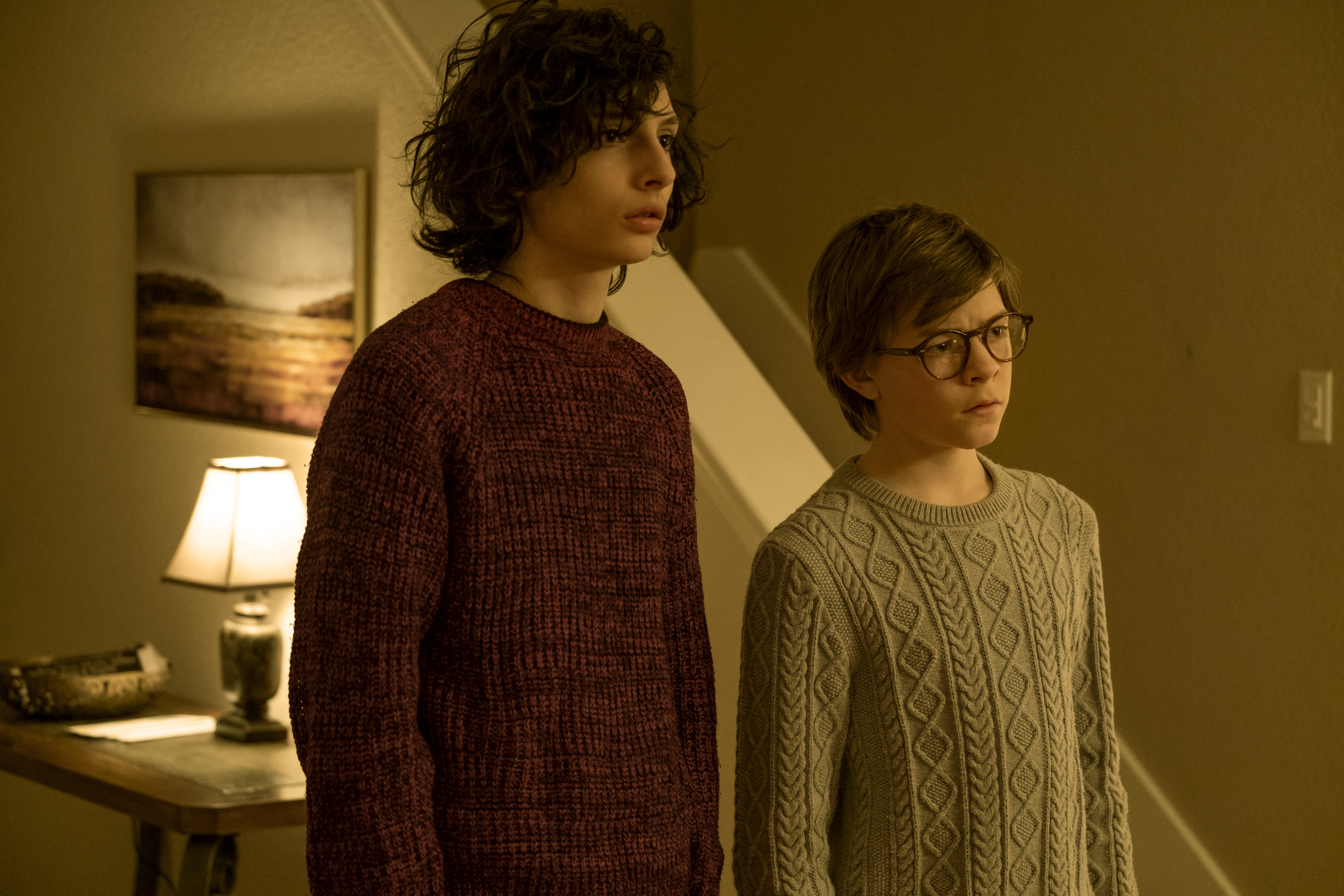 "Finn Wolfhard as young Boris and Oakes Fegley as young Theo Decker in Warner Bros. Pictures' and Amazon Studios' drama, ""The Goldfinch,"" a Warner Bros. Pictures release."