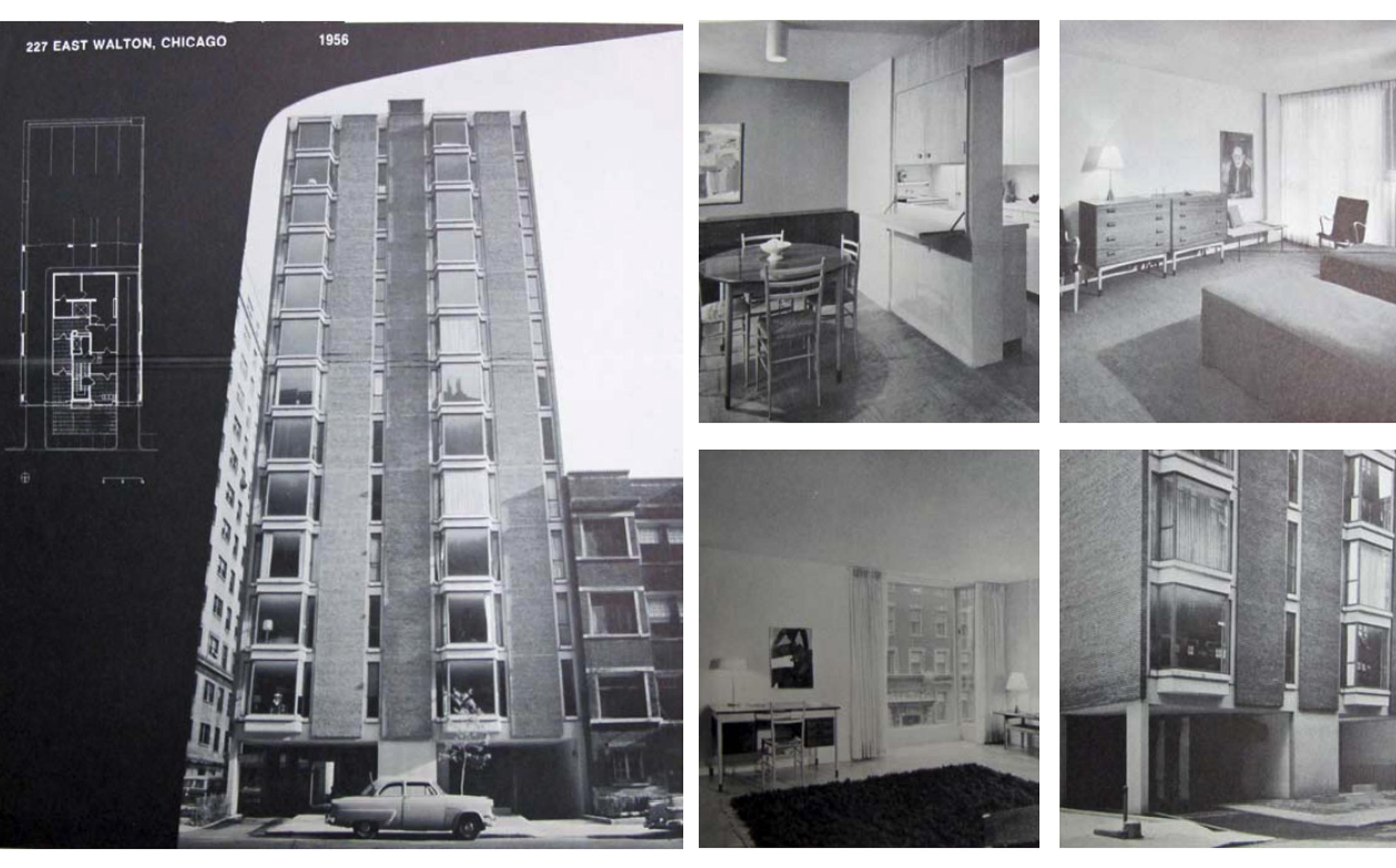 A 1956 marketing brochure for 227 E. Walton Place.