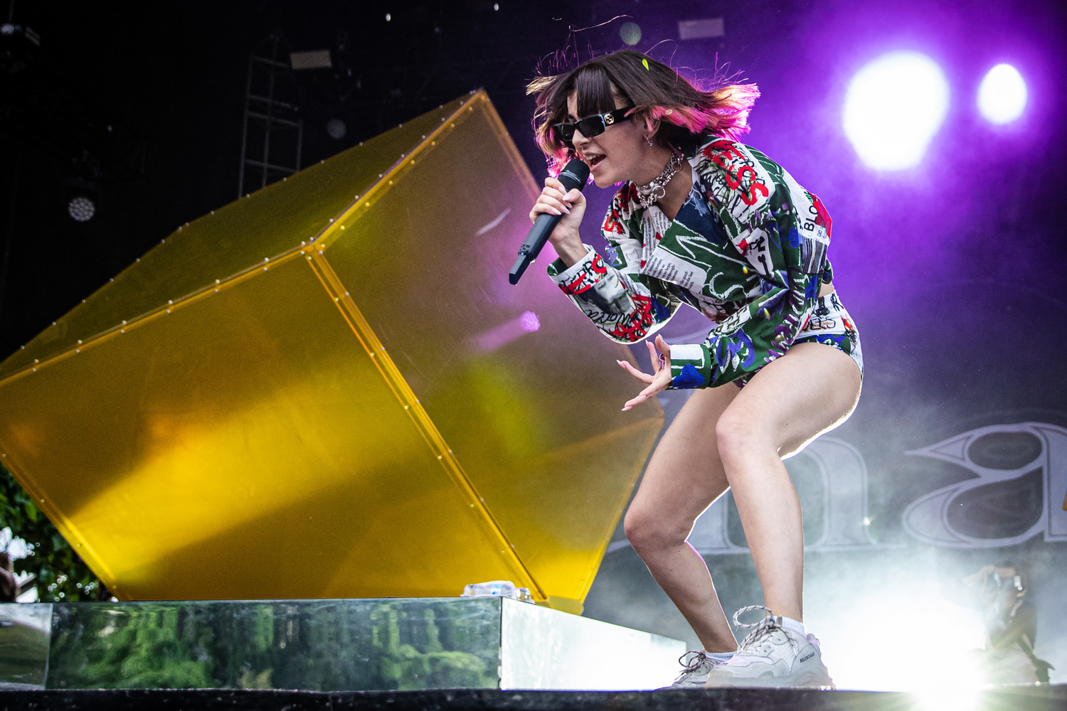 Charli XCX at Pitchfork Music Festival at Union Park on July 21.