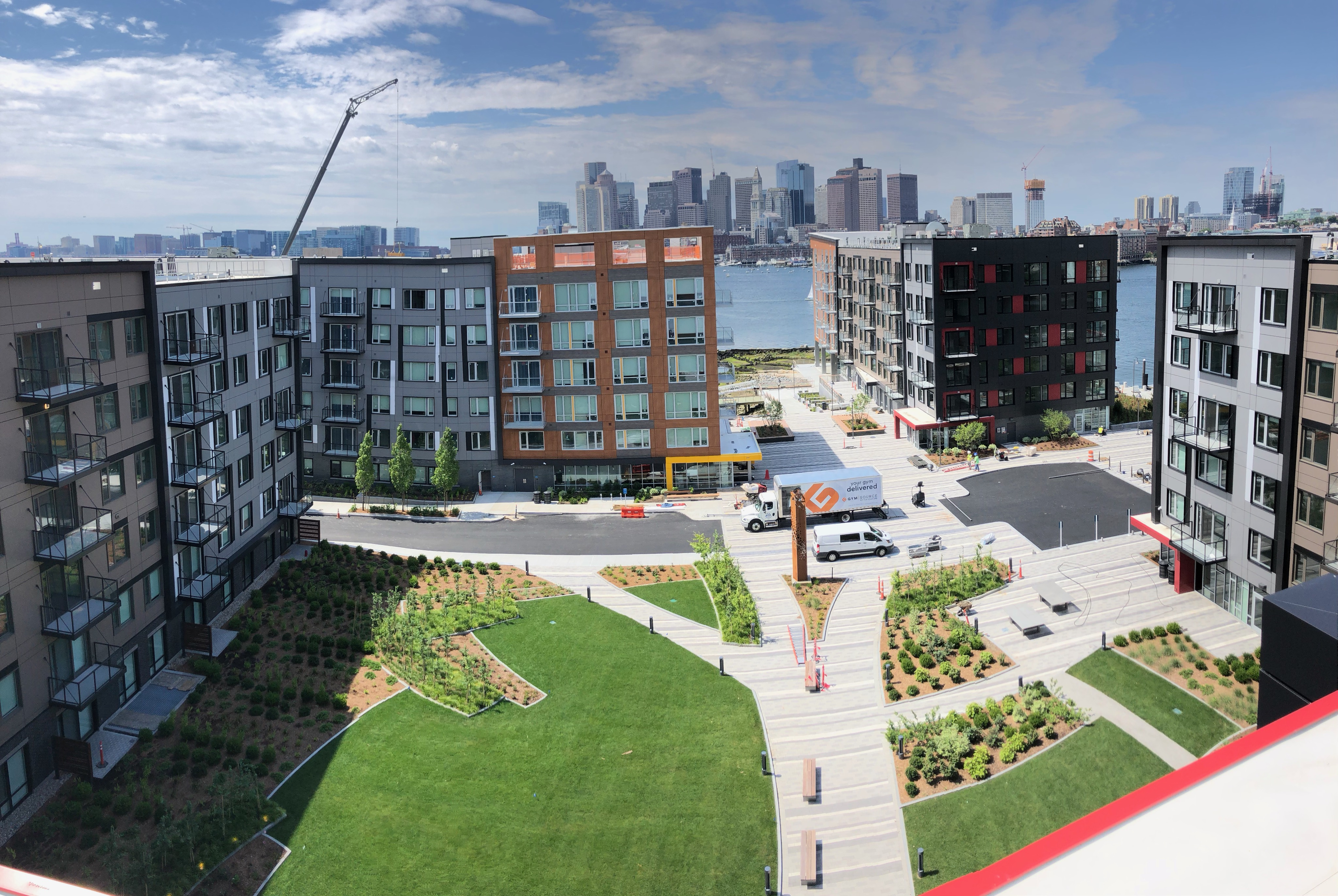 East Boston's Clippership Wharf officially opens with storm-barrier system