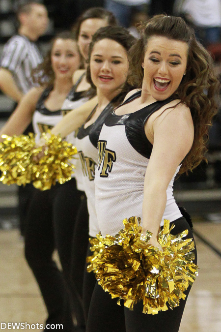 The Wake Forest dance team entertains the large crowd of Deacon fans