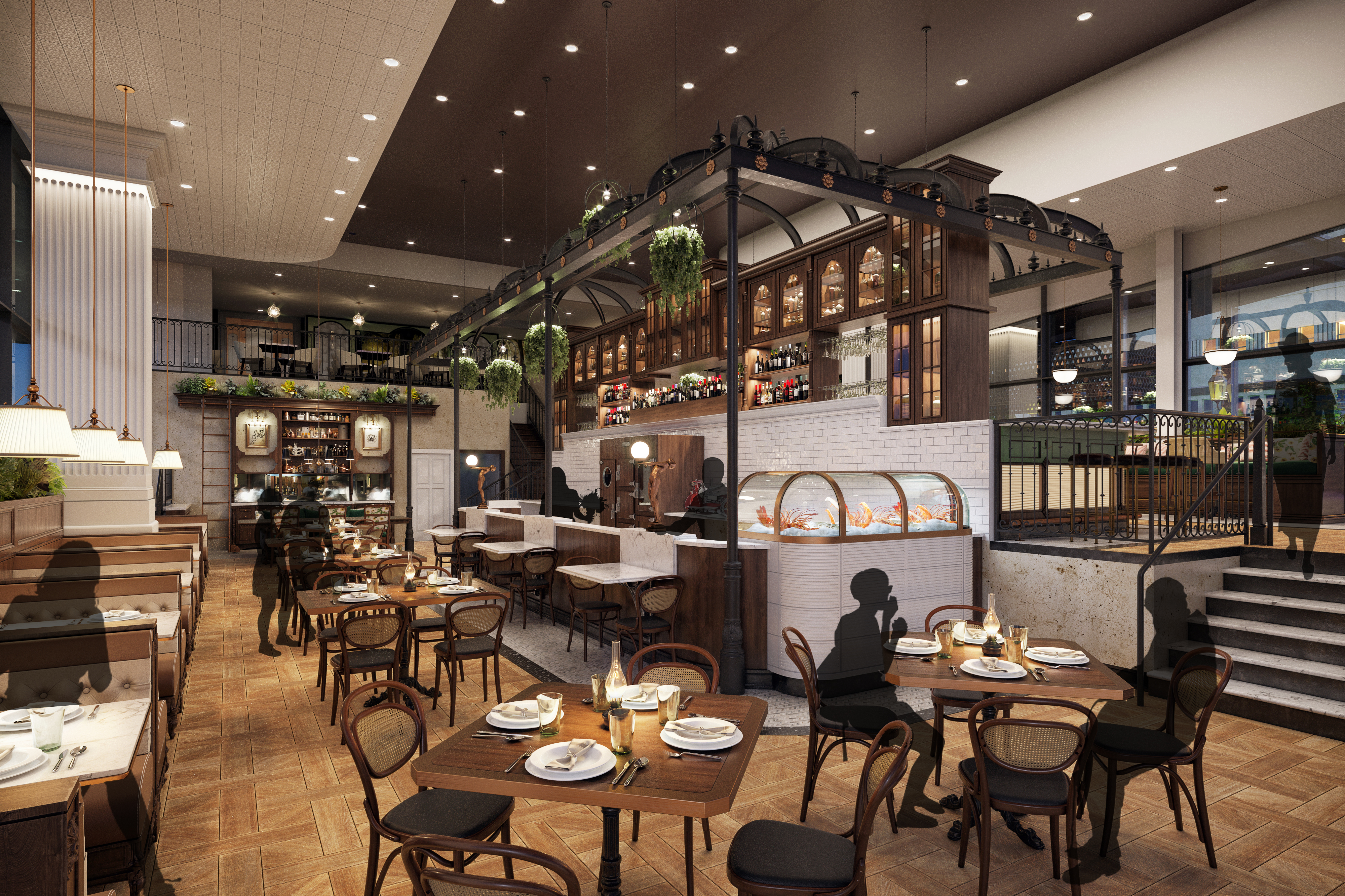 A look inside the cavernous dining room at Dauphine's.