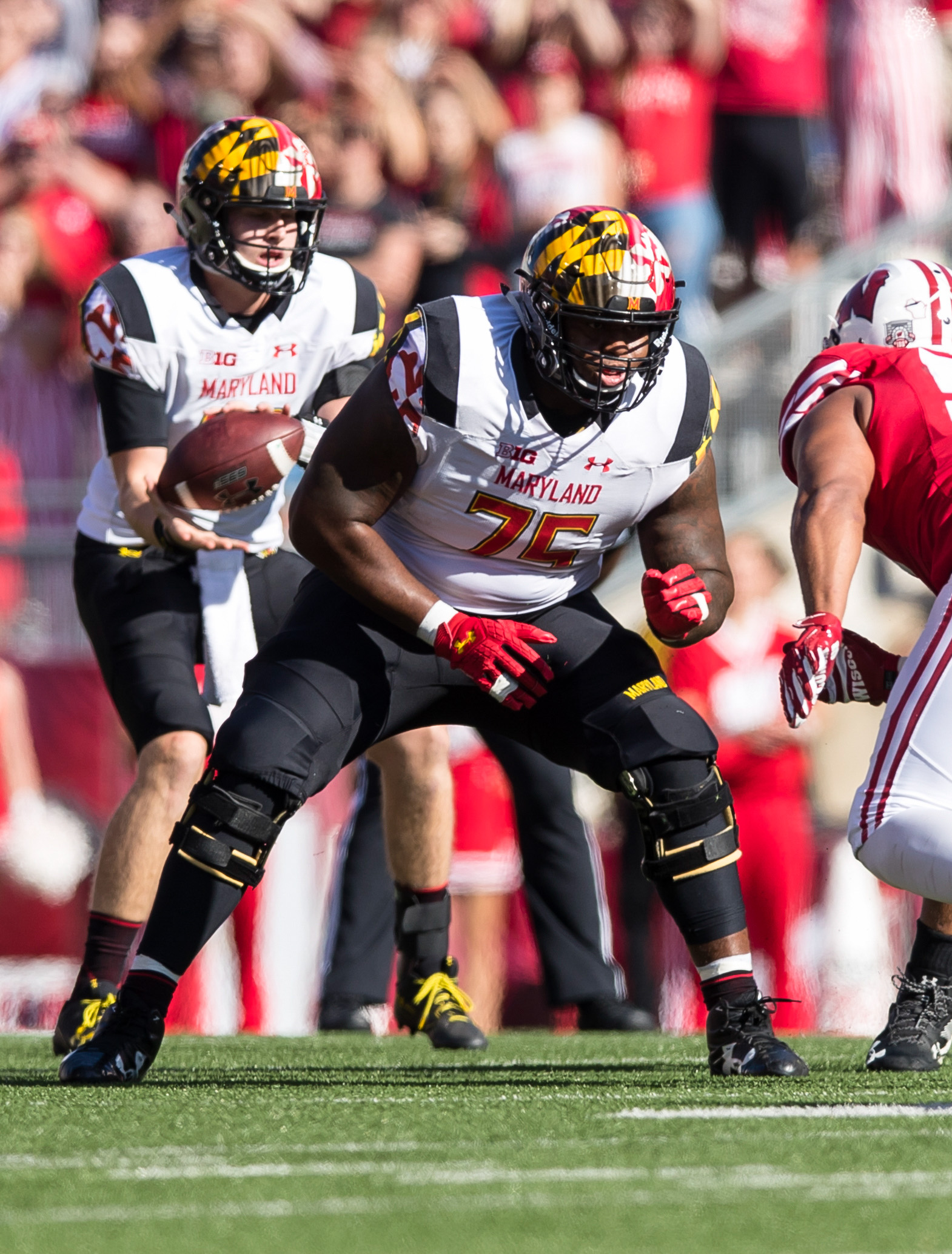 NCAA Football: Maryland at Wisconsin