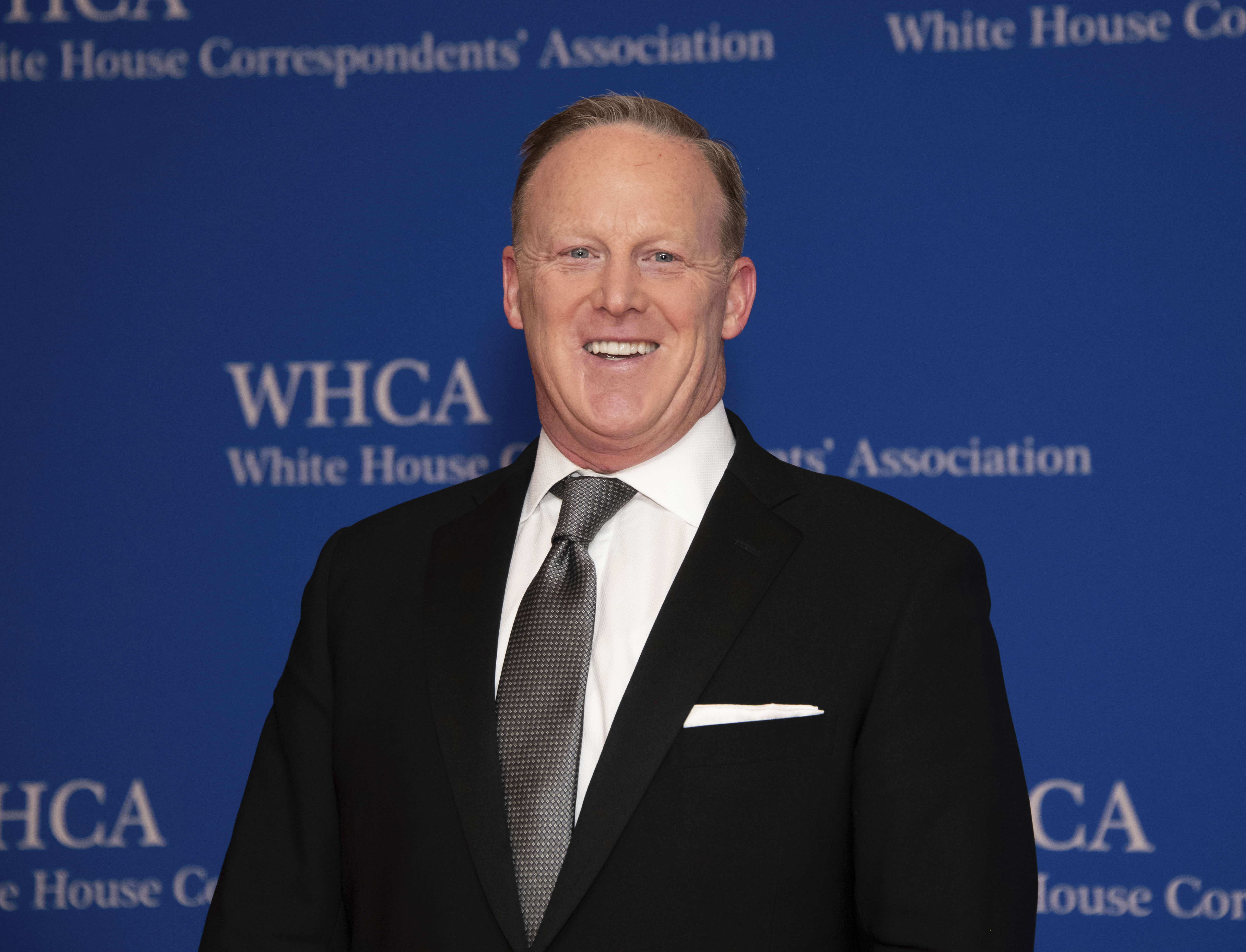 Sean Spicer attends the 2019 White House Correspondents' Association dinner at the Washington Hilton on Saturday April 27, 2019, in Washington. (Photo by Charles Sykes/Invision/AP)