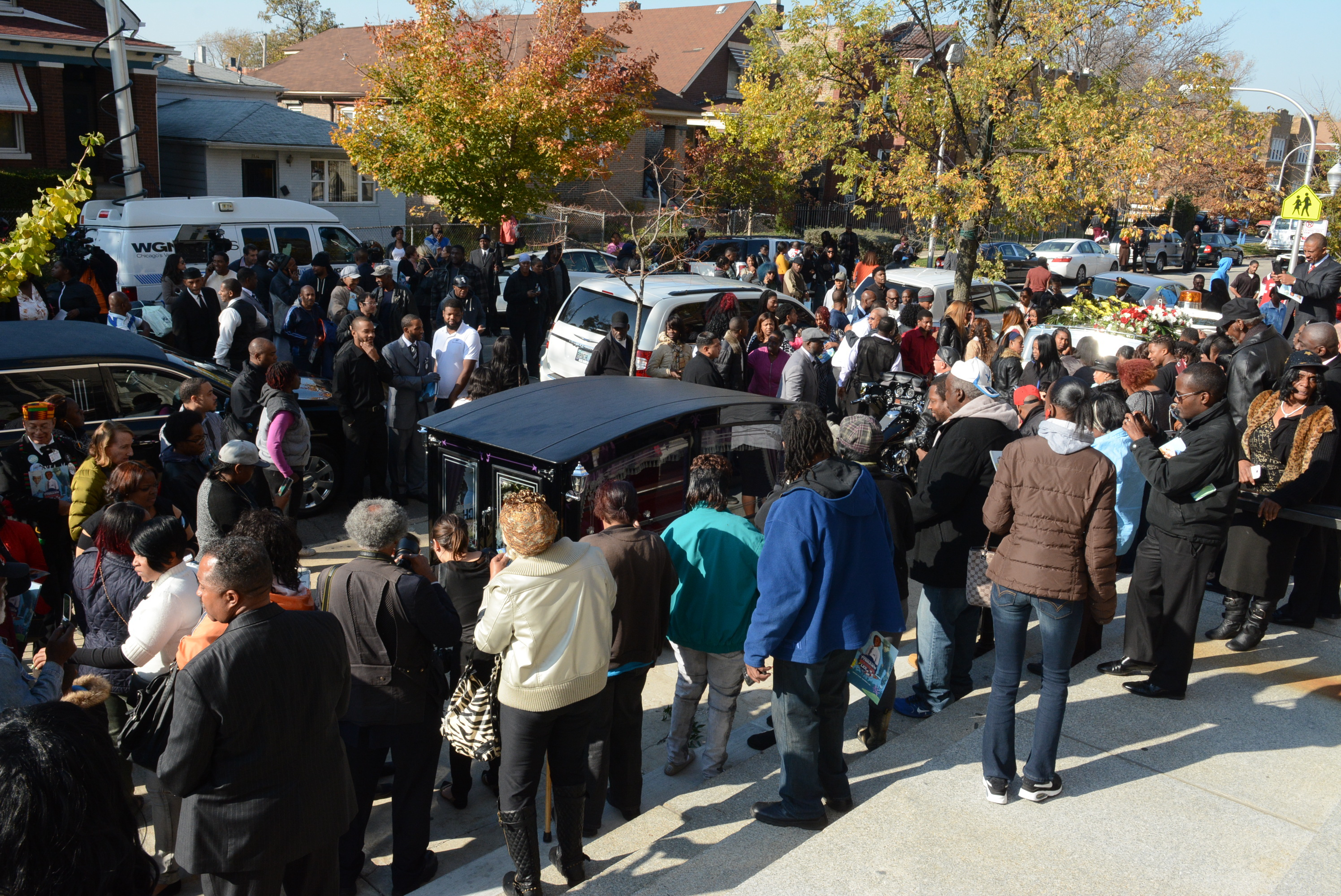 The crowd at the funeral for Tyshawn Lee at St. Sabina Church in Auburn Gresham, Nov. 10, 2015.