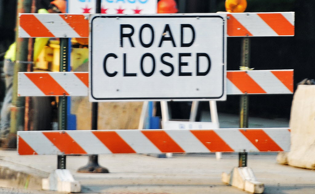 Lane closures on Van Buren Street will begin Sept. 18, 2019, to accommodate construction of a new Greektown monument at Halsted and Van Buren streets.