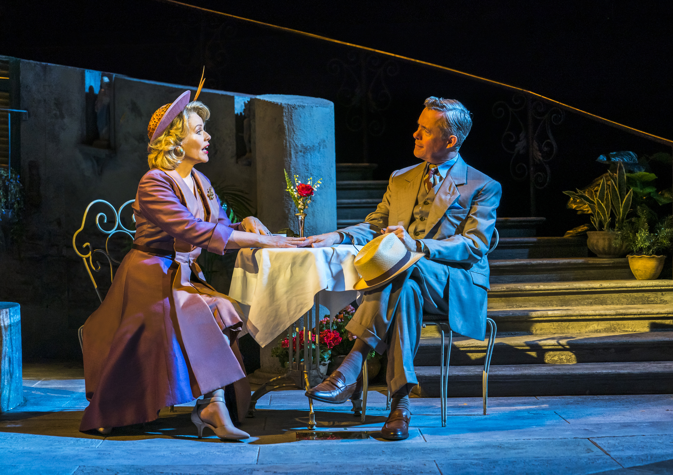 """Renee Fleming and Alex Jennings in a scene from """"The Light in the Piazza."""""""