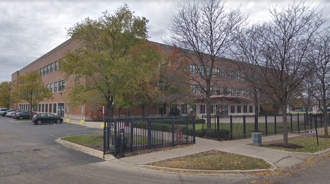 """Marine Leadership Academy, 1920 N. Hamlin Ave., is one of two Chicago Public Schools placed on a """"soft lockdown"""" Sept. 18, 2019, over threats on social media."""