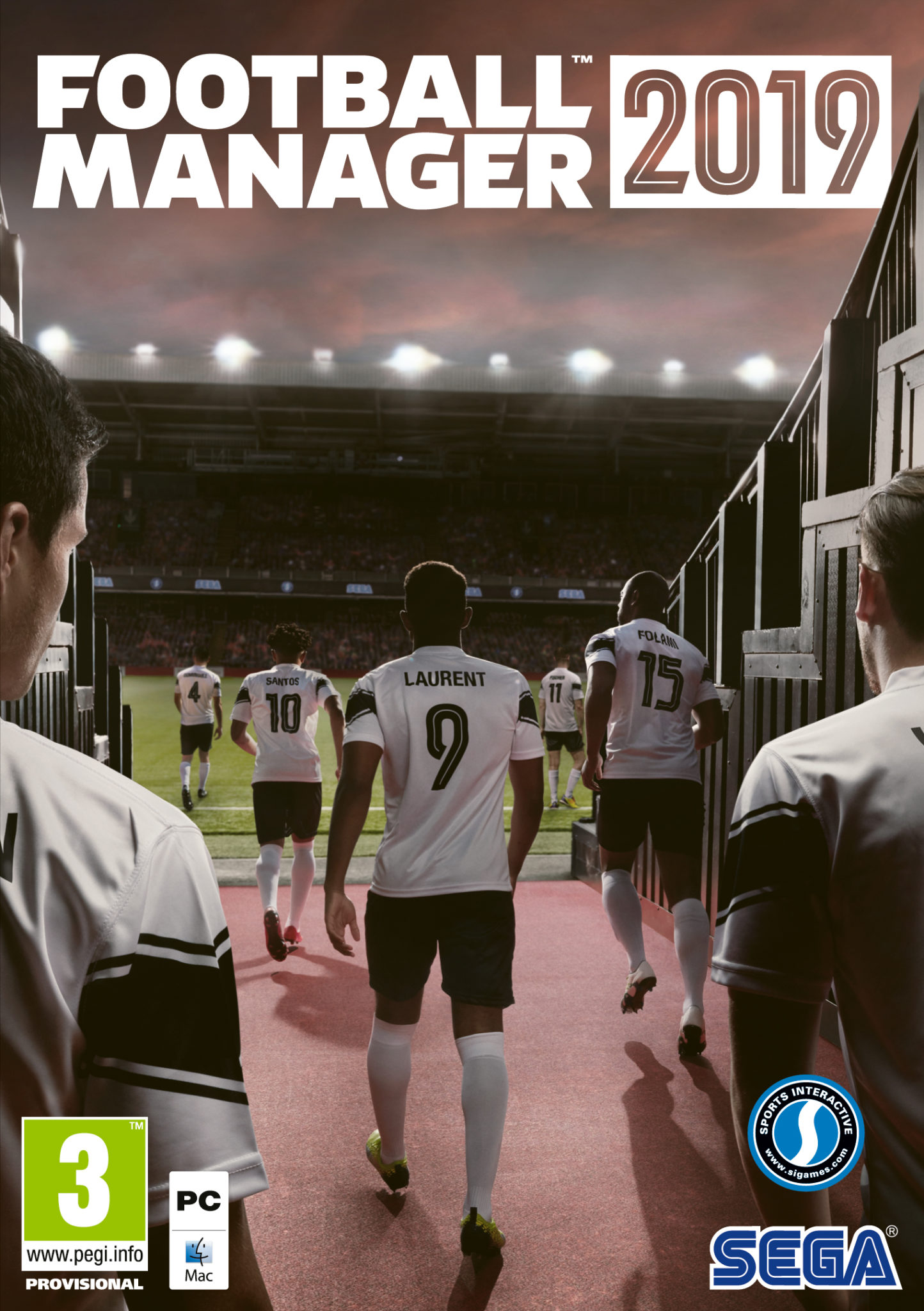 Box cover of Football Manager 2019 for PC
