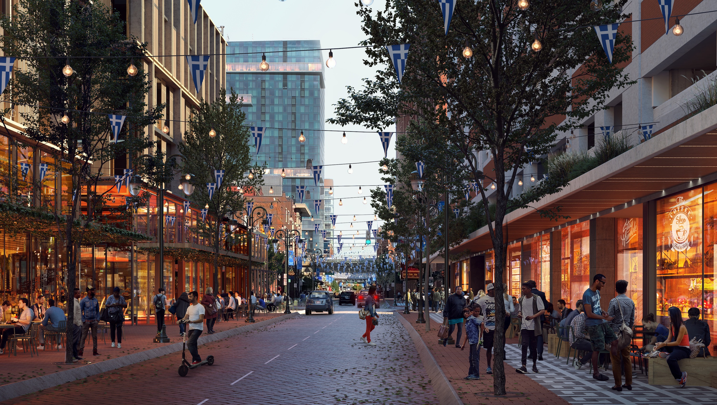 Greektown seeks to modernize with plan that includes more mixed-use, public space