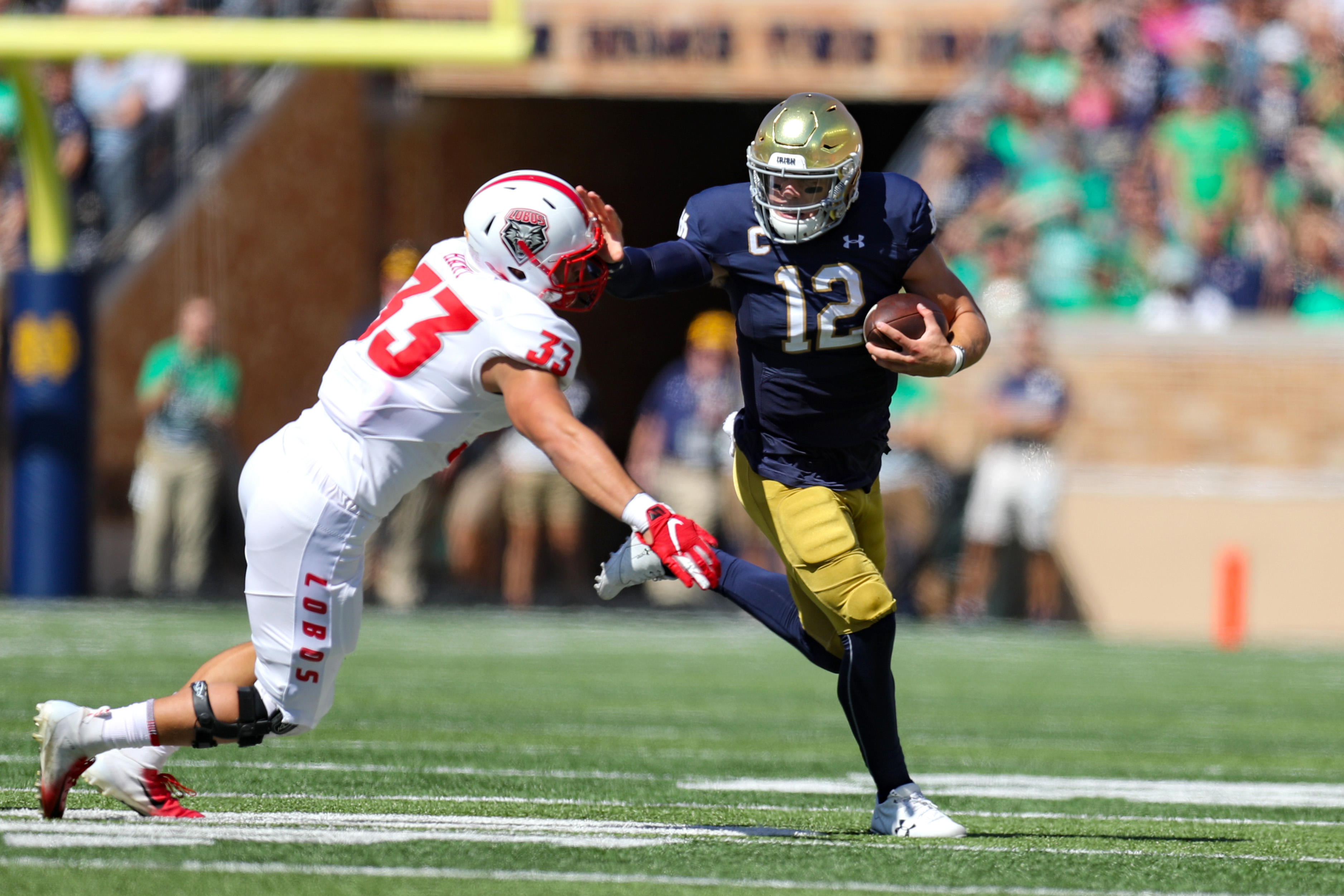 COLLEGE FOOTBALL: SEP 14 New Mexico at Notre Dame