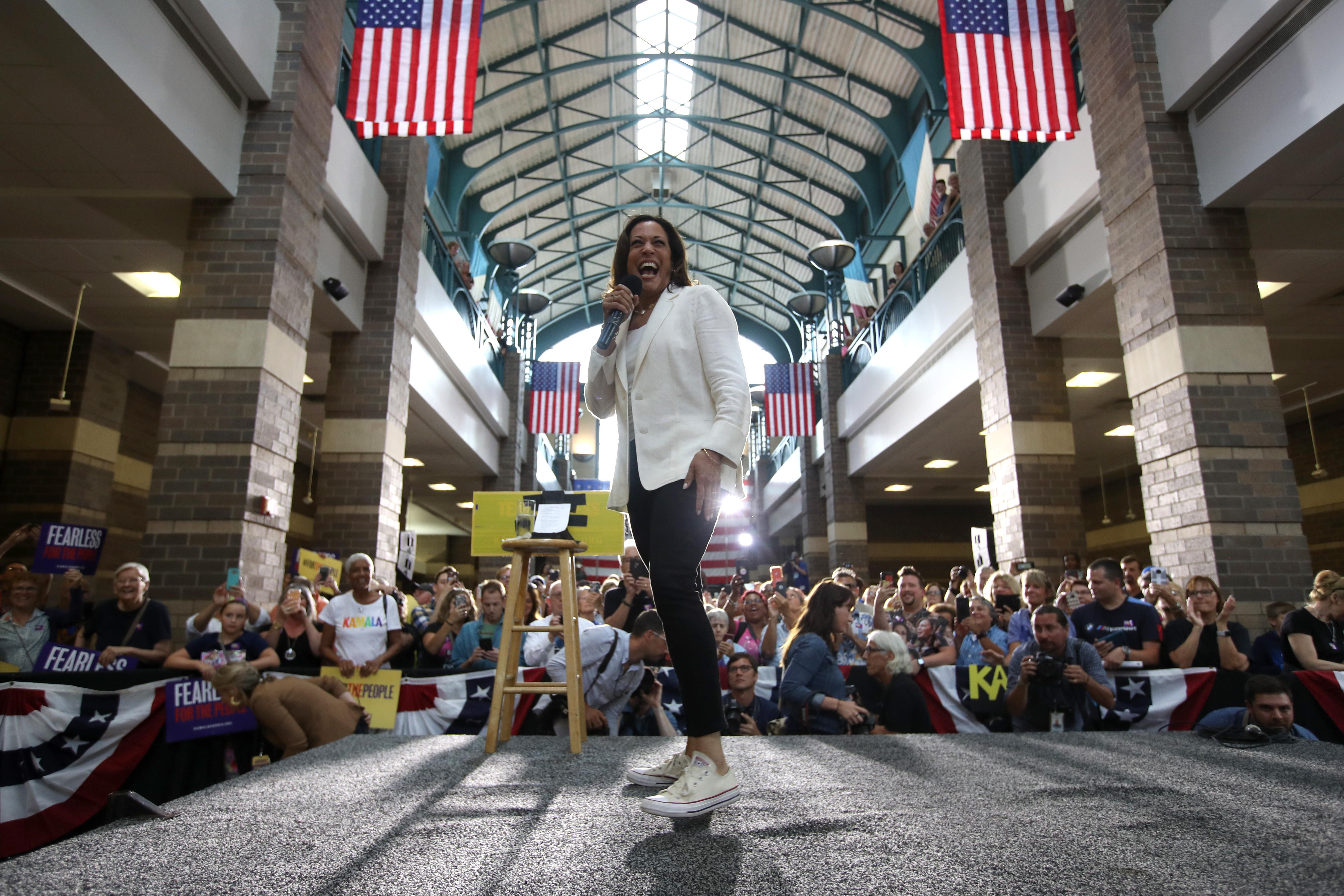 Kamala Harris is f***ing committing to Iowa