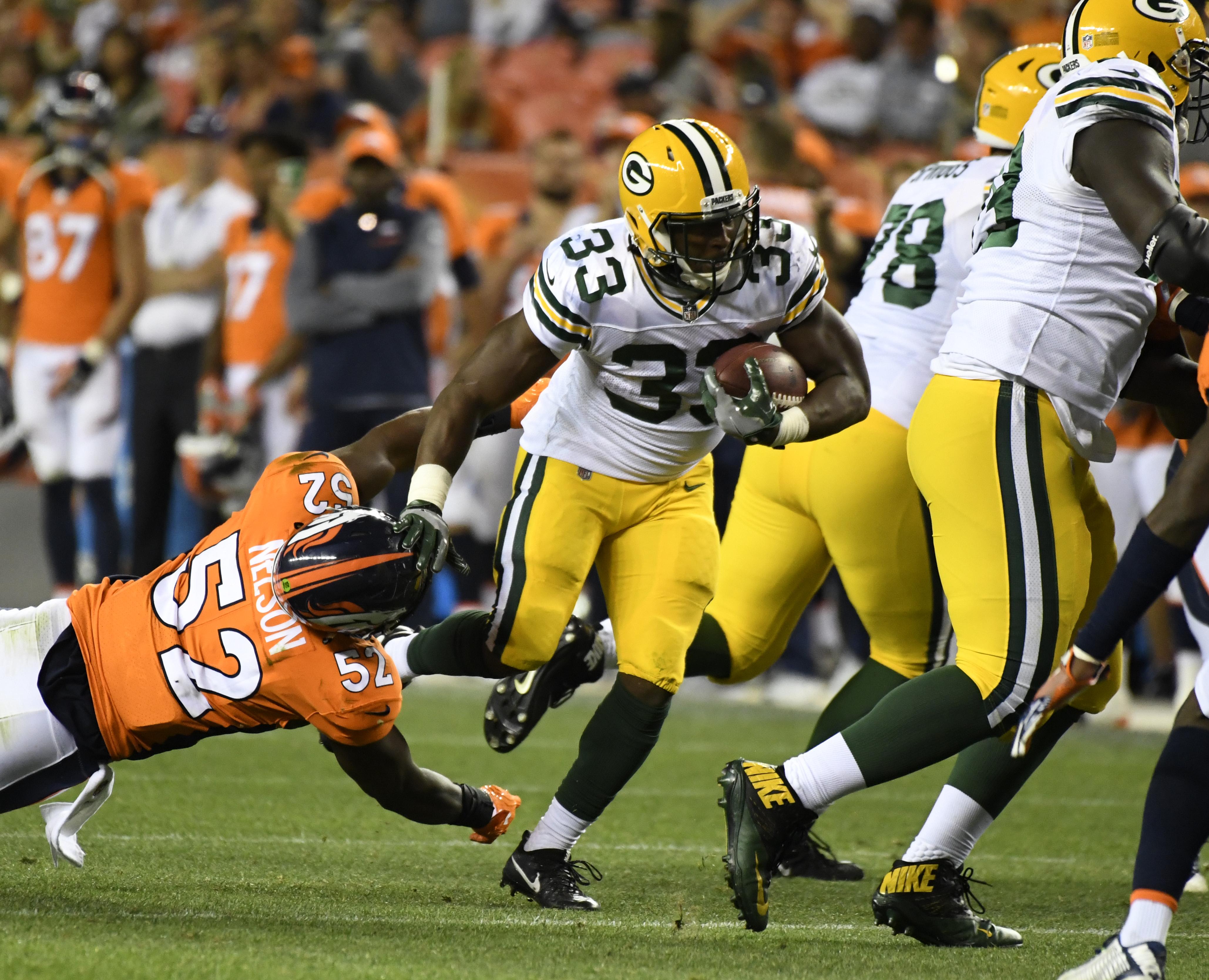 Denver Broncos versus the Green Bay Packers