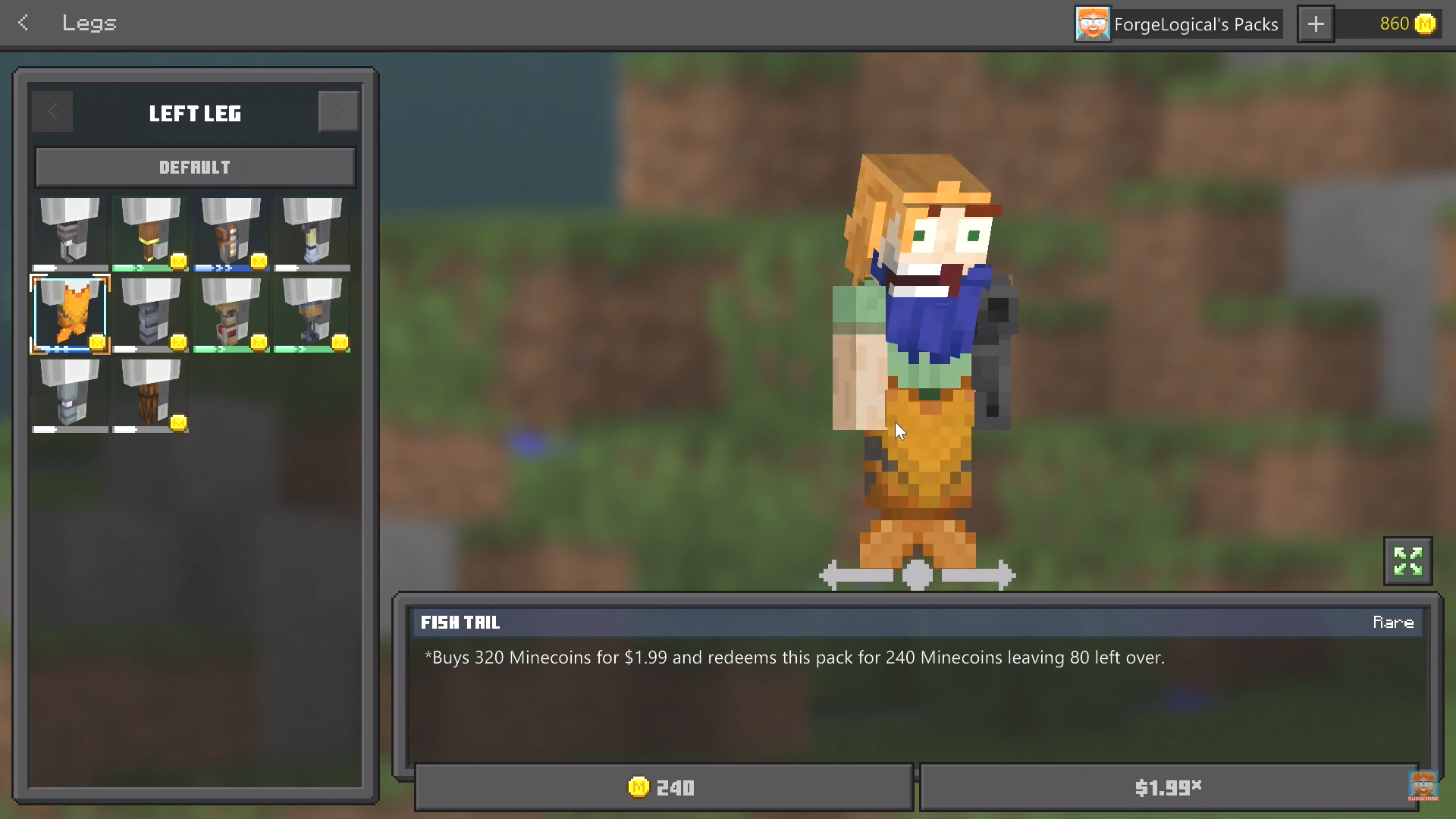 Minecraft has a built-in character creator now