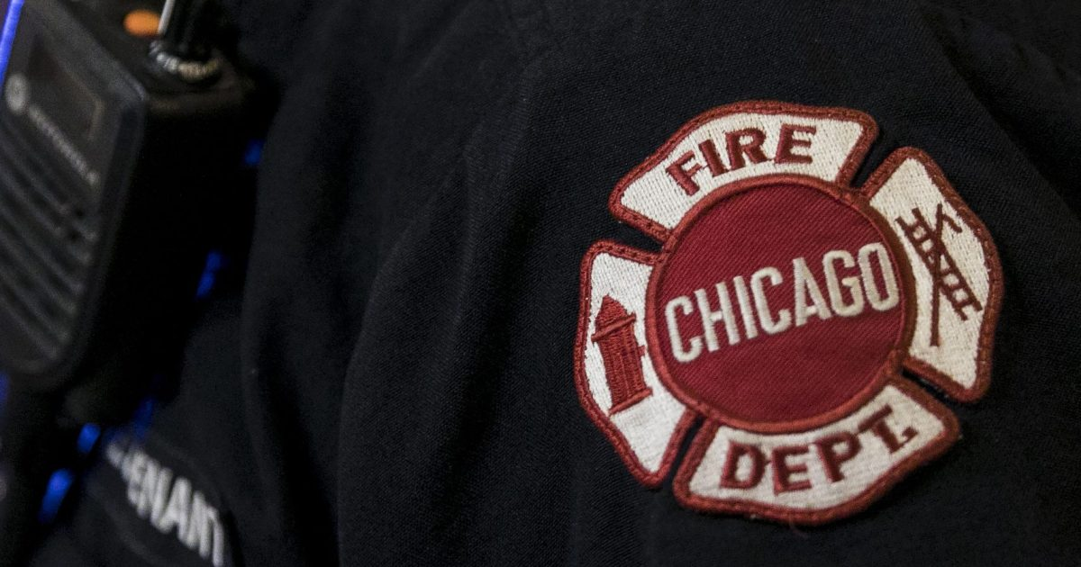 A Chicago Fire Department badge