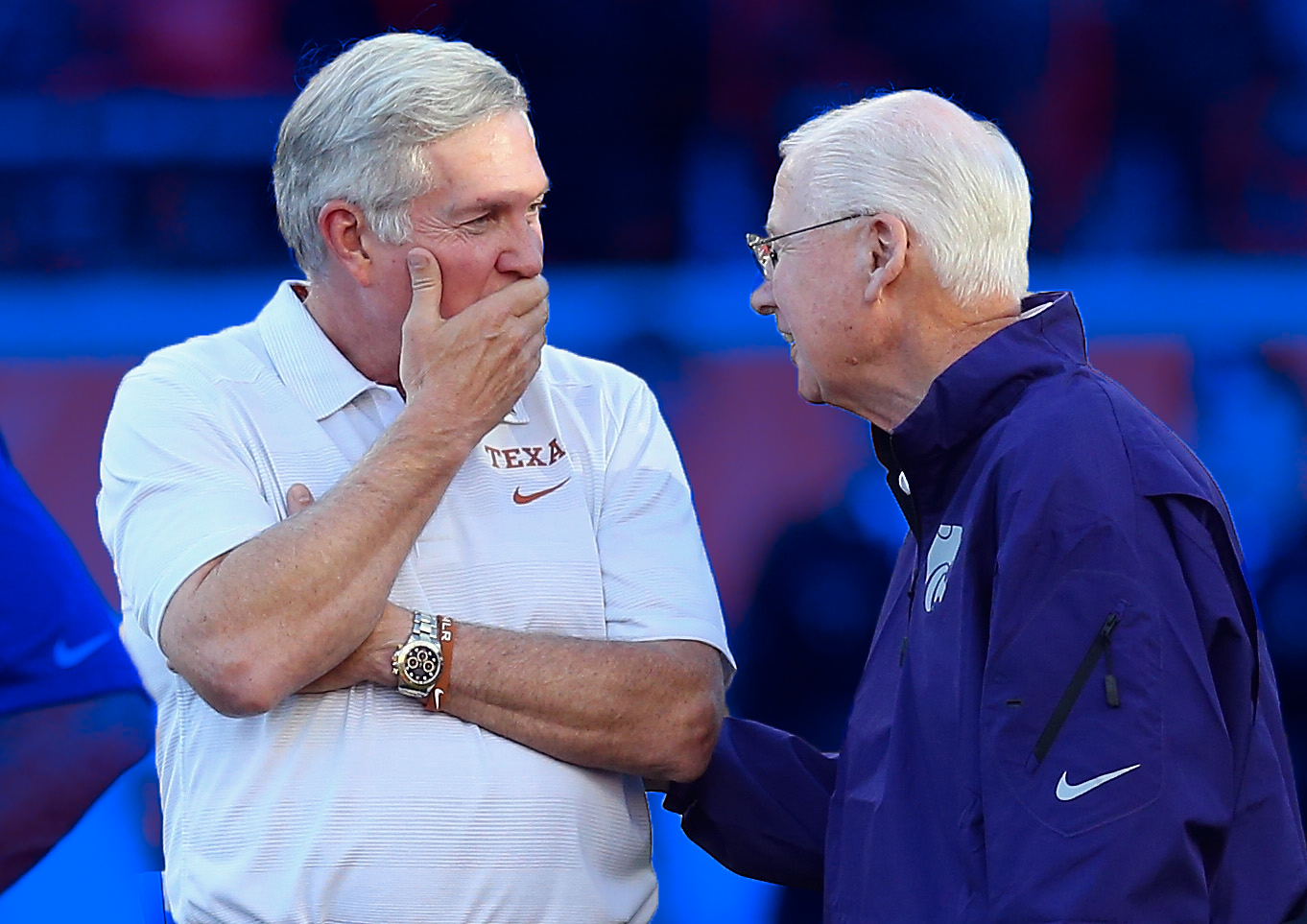 Mack Brown and Bill Snyder: Texas vs. Kansas State