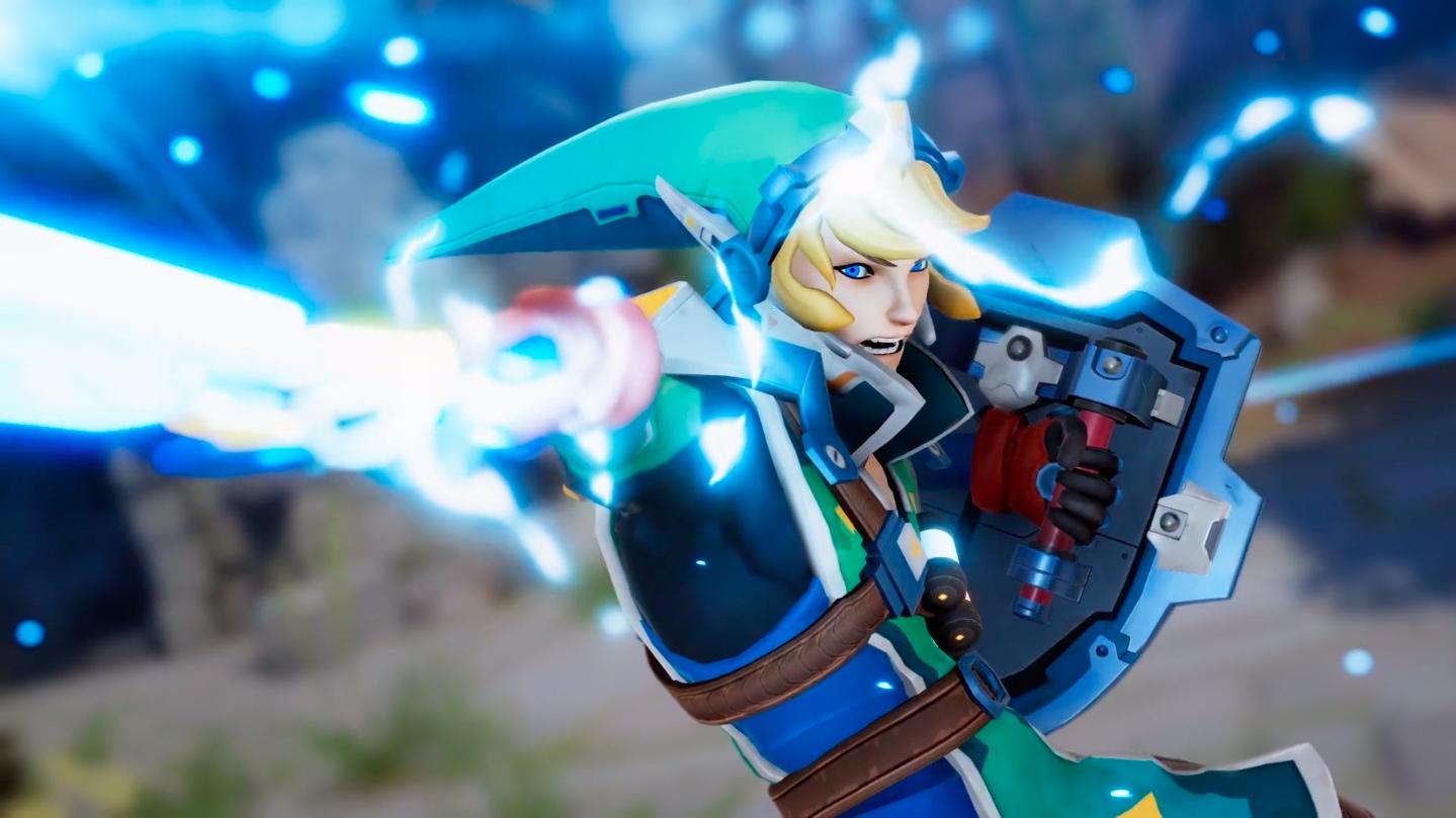 Still shot of Link reimagined for Overwatch