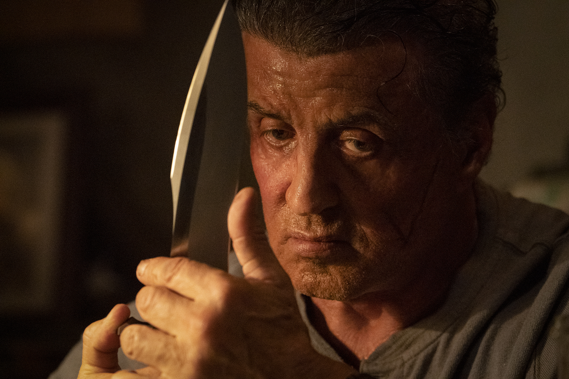 "Sylvester Stallone as John Rambo in ""Rambo: Last Blood."""