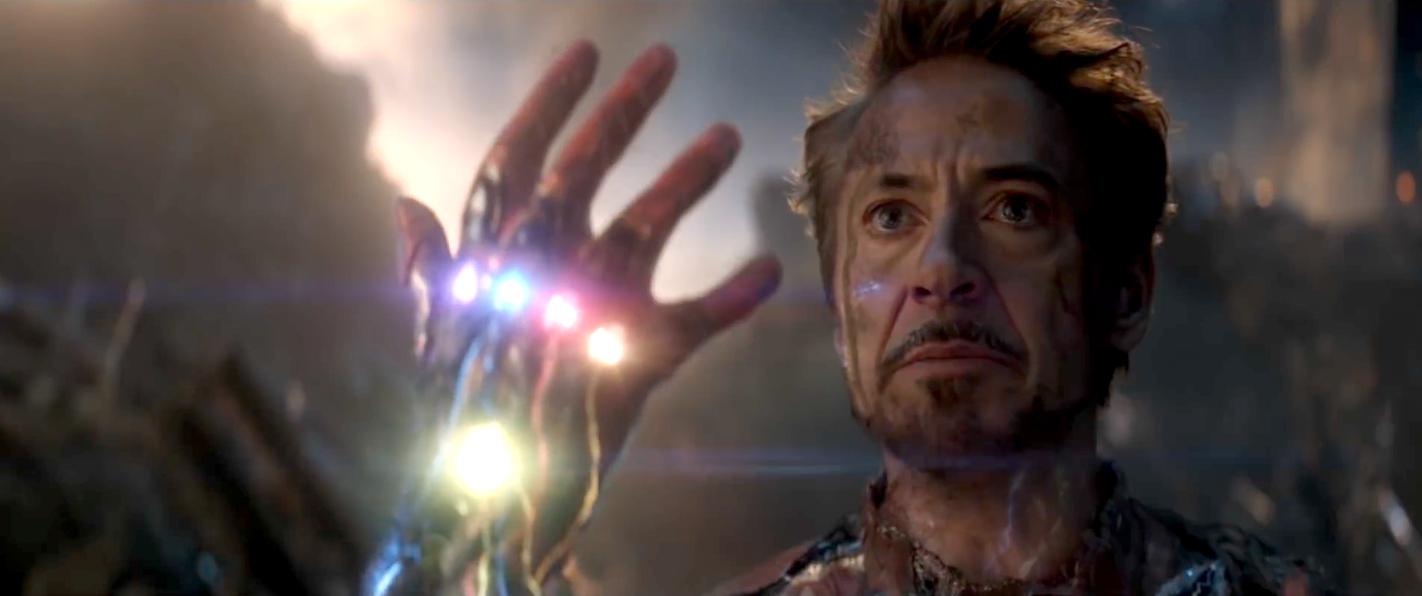 iron man gauntlet snap in avengers: endgame