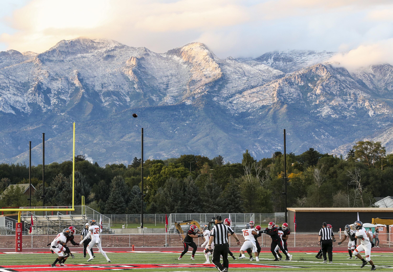 American Fork hosts Skyridge in a high school football game at American Fork High School in American Fork on Friday, Sept. 20, 2019. Skyridge defeated American Fork 45-34.