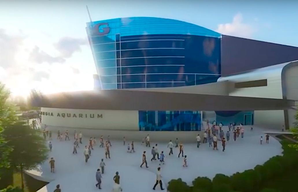 Georgia Aquarium's $100M shark exhibit wraps vertical construction