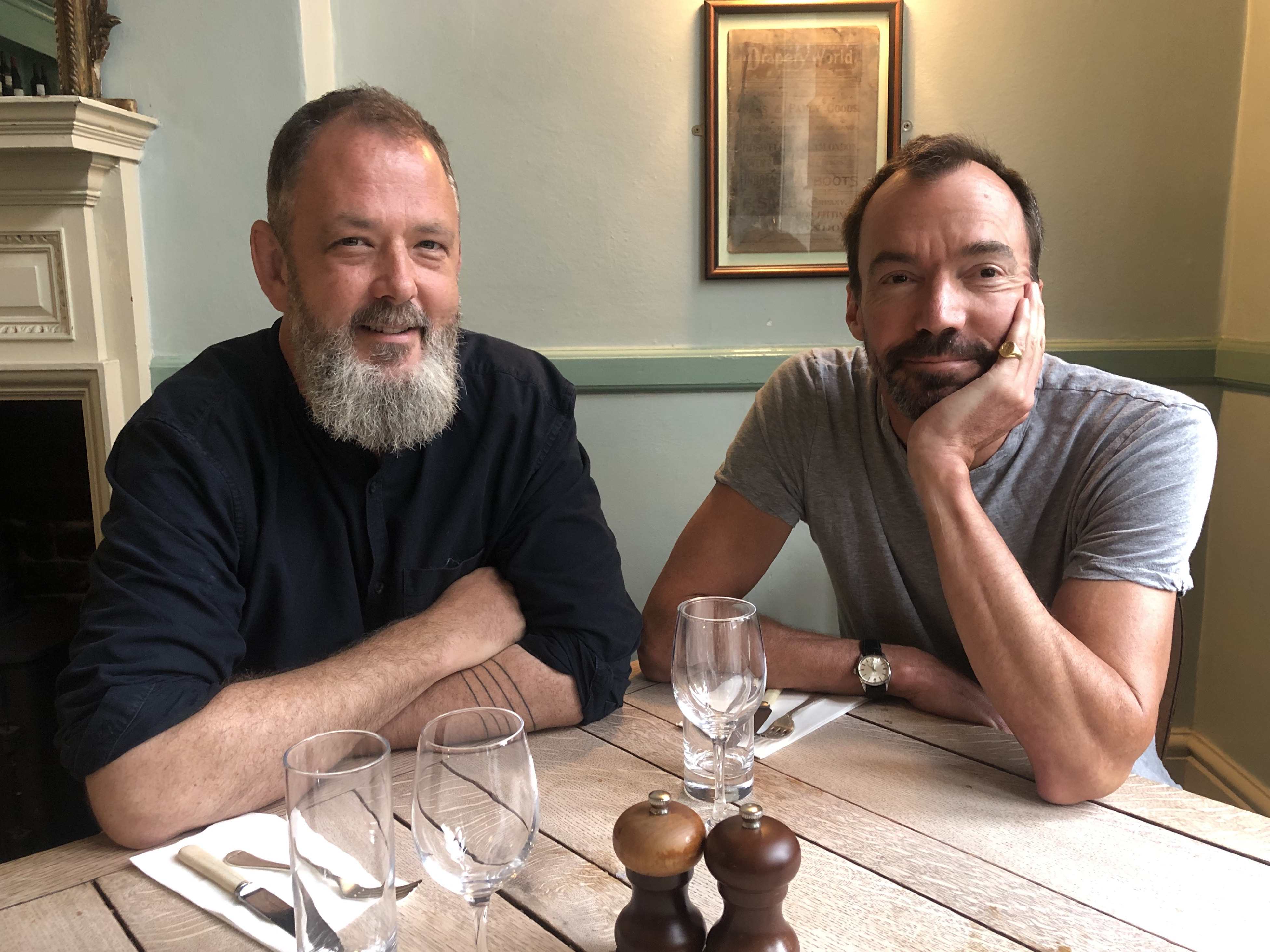 Chef Damian Clisby and publican Nick Gibson, creators of Emile —a new wine bar and bistro in Shoreditch, east London
