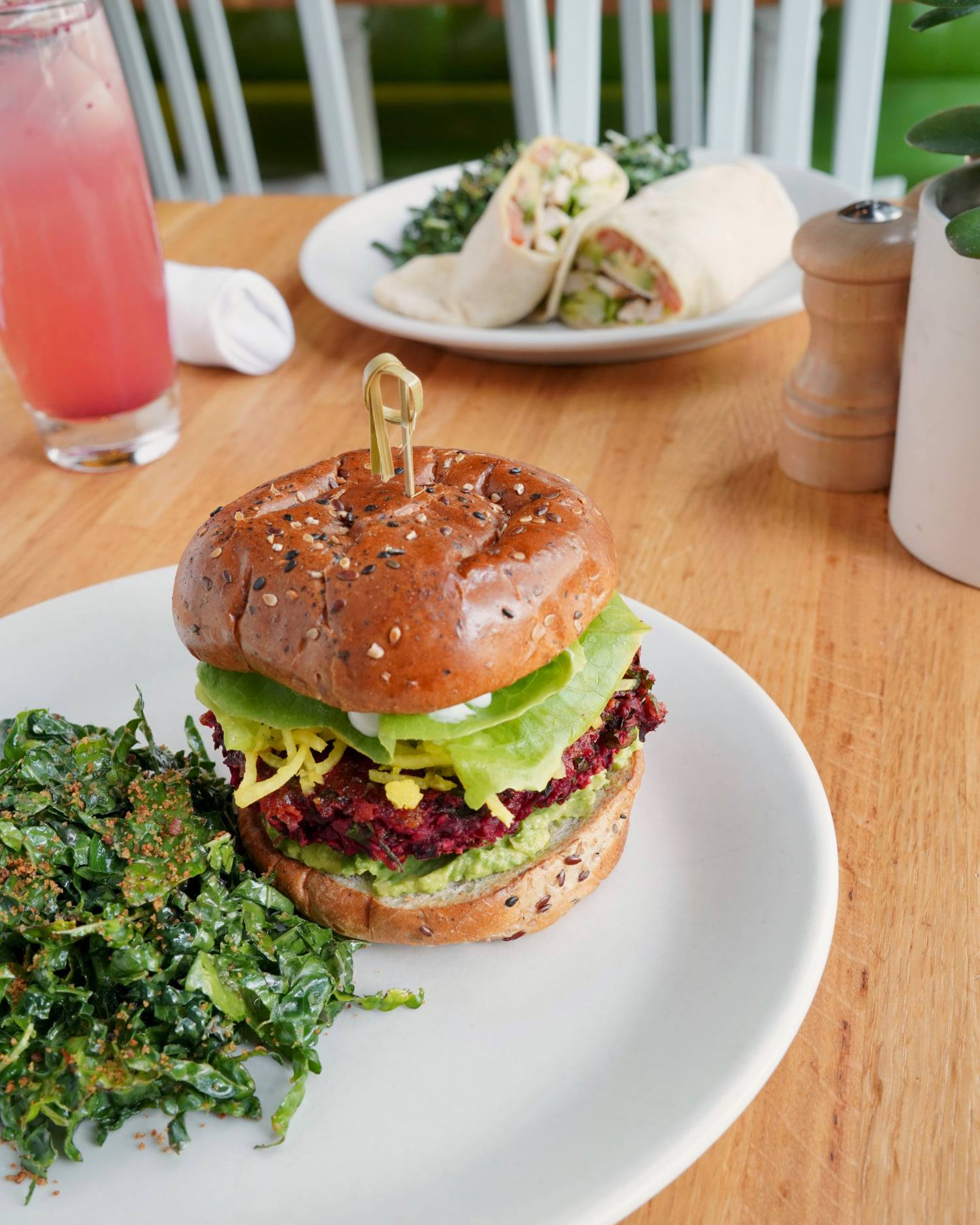 A burger made with beets