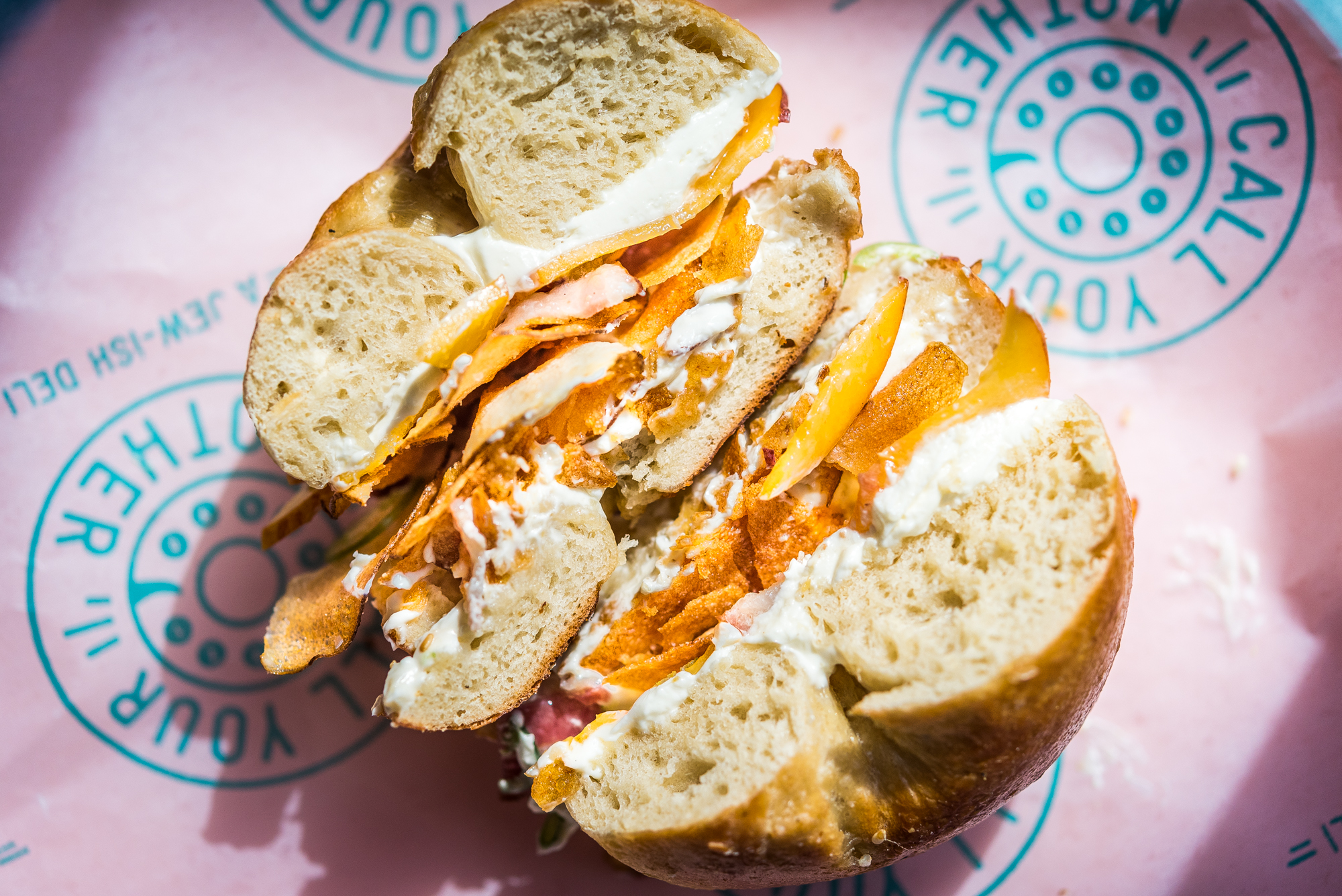 A bagel sandwich at Call Your Mother.