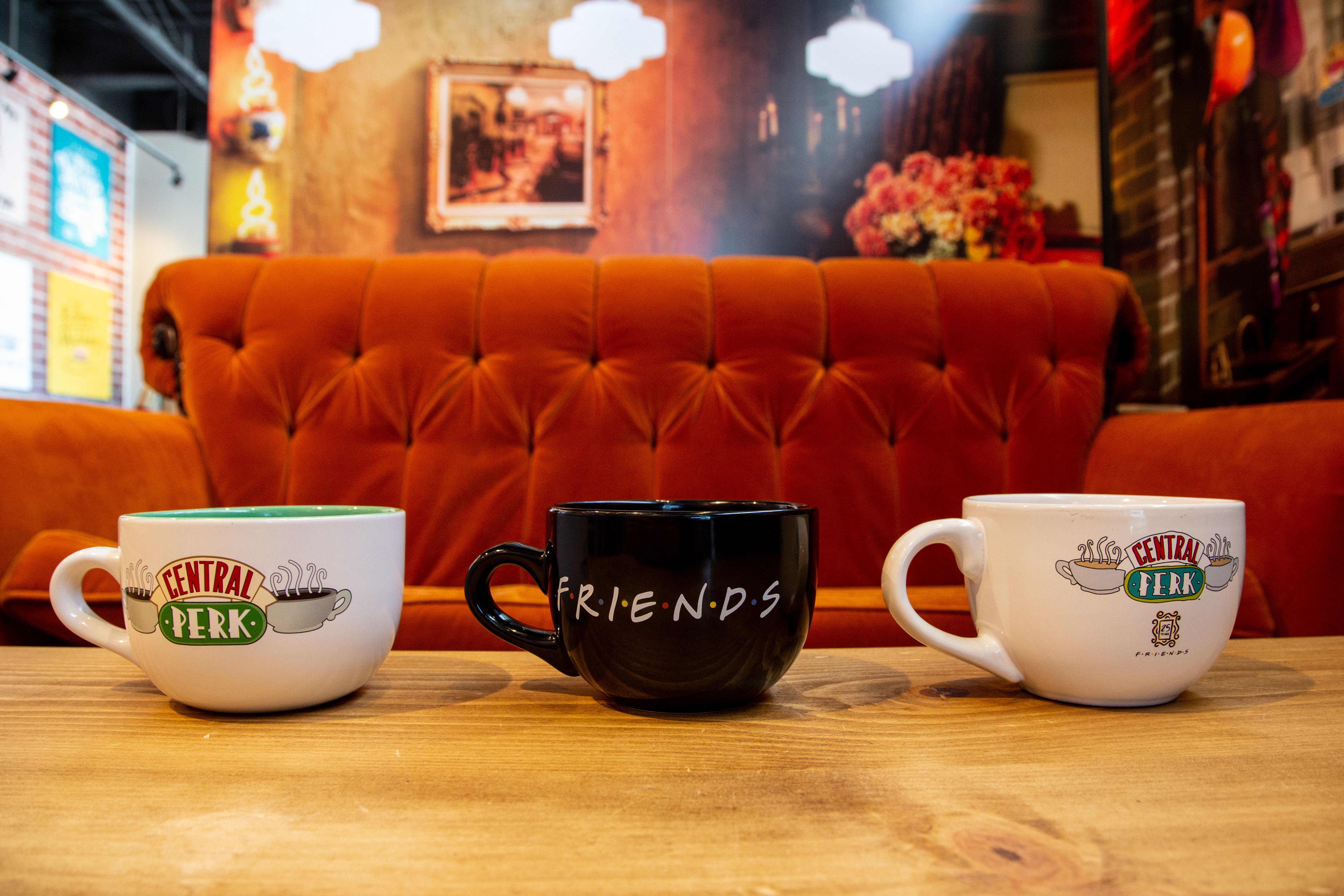 """""""Friends"""" 25th Anniversary Central Perk Pop Up At The Coffee Bean And Tea Leaf"""