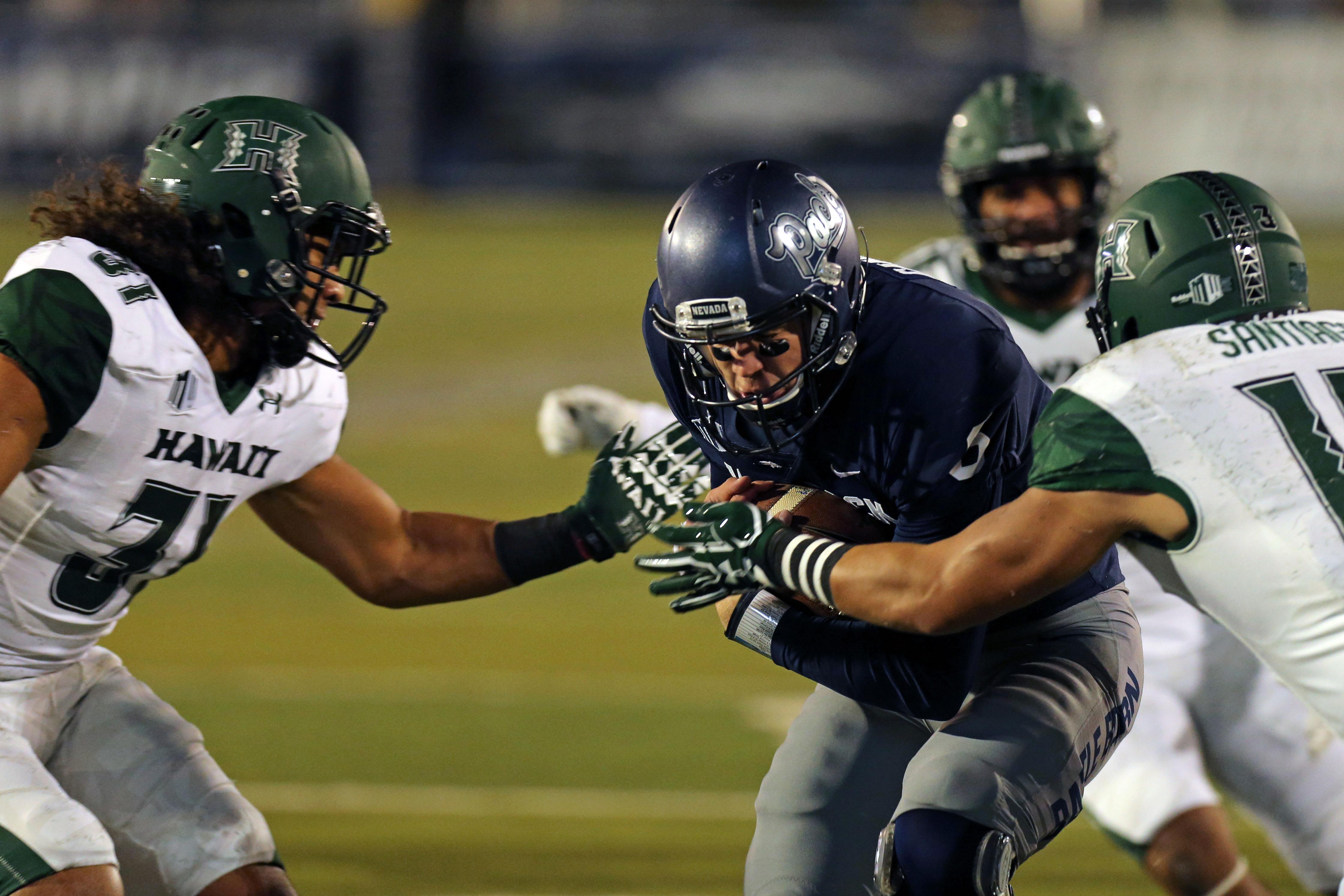 NCAA Football: Hawaii at Nevada