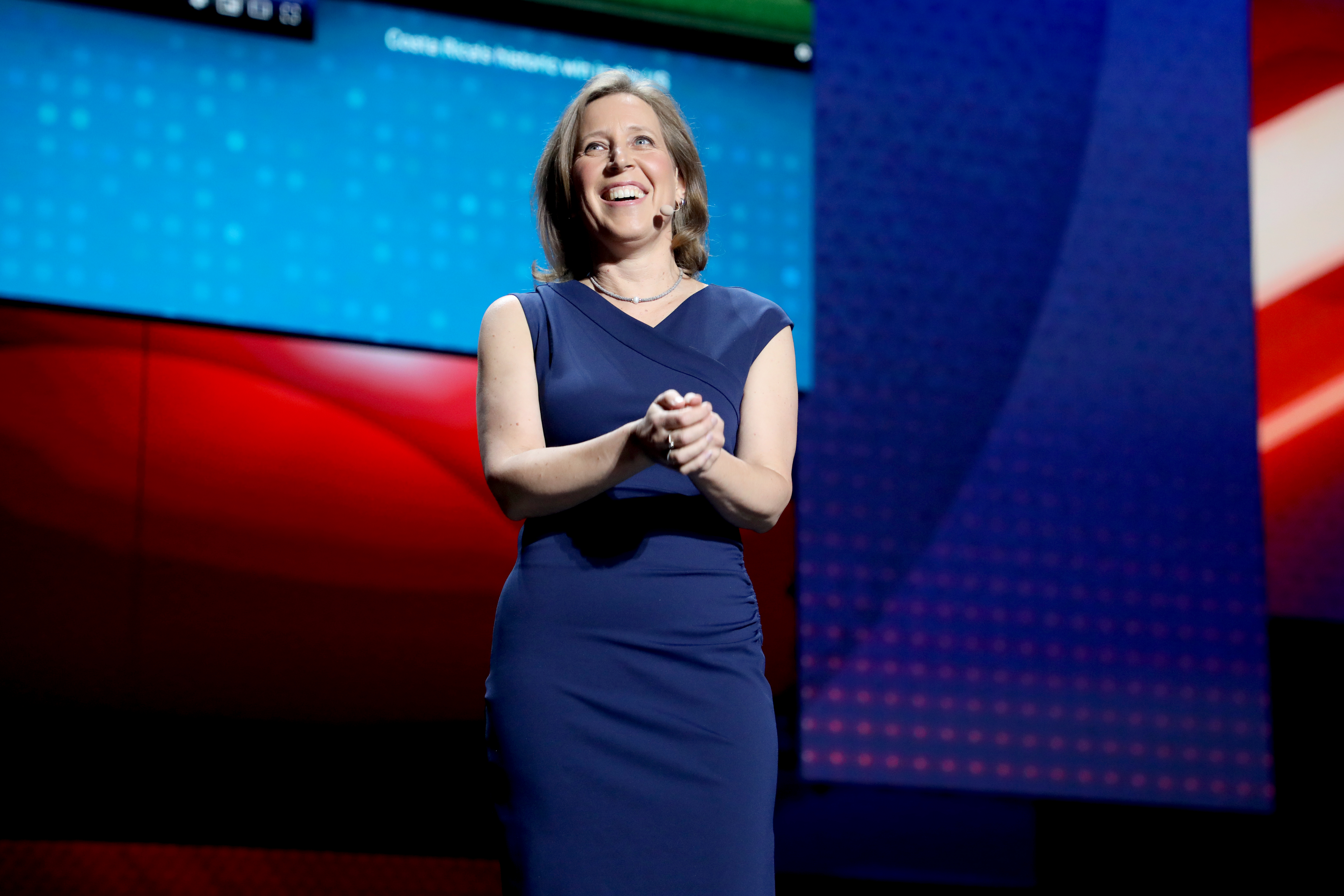 YouTube CEO Susan Wojcicki speaks onstage.