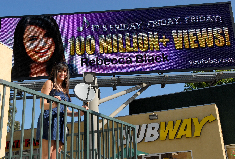 "Rebecca Black ""Friday"" Billboard Unveiling Ceremony"