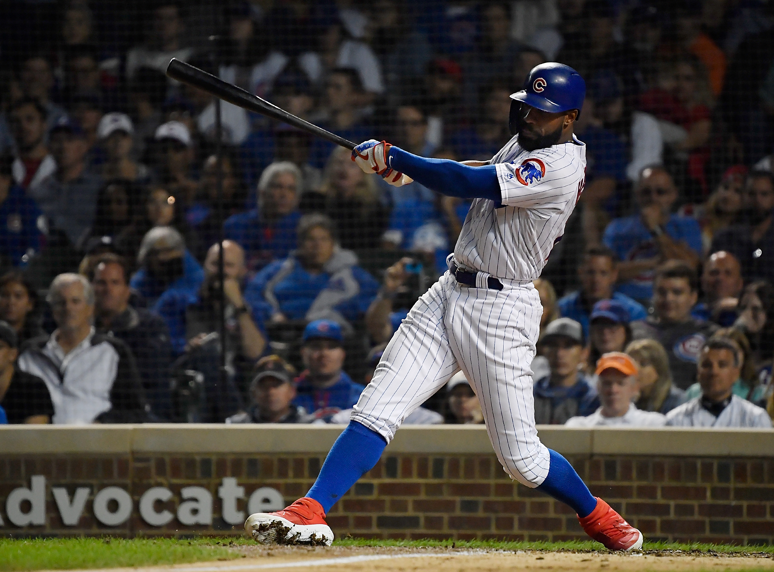Cubs outfielder Jason Heyward had a .343 on-base percentage overall, but that number fell to .252 in the leadoff spot.