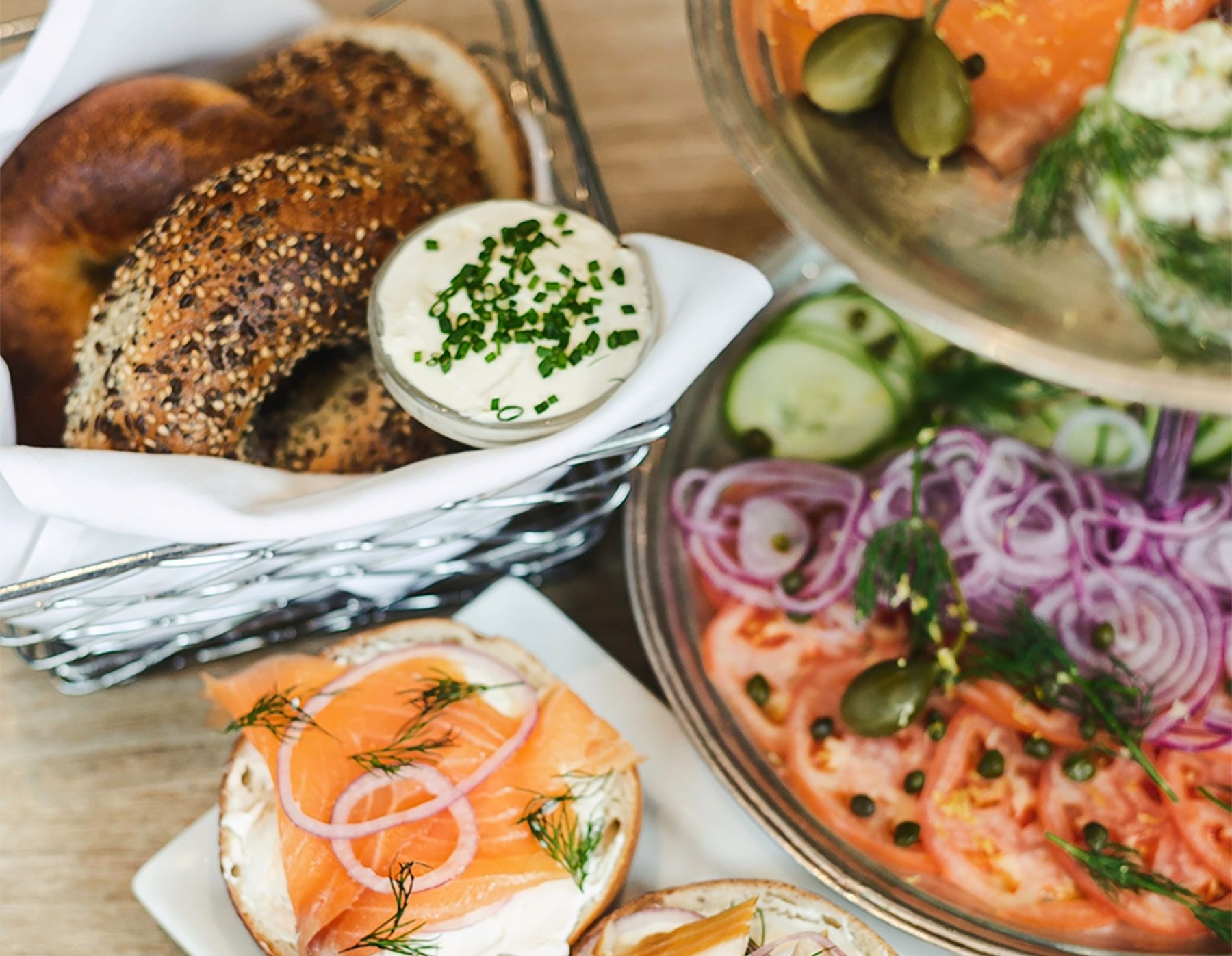 Smoked Seafood-Packed Bagel Towers Arrive in Back Bay