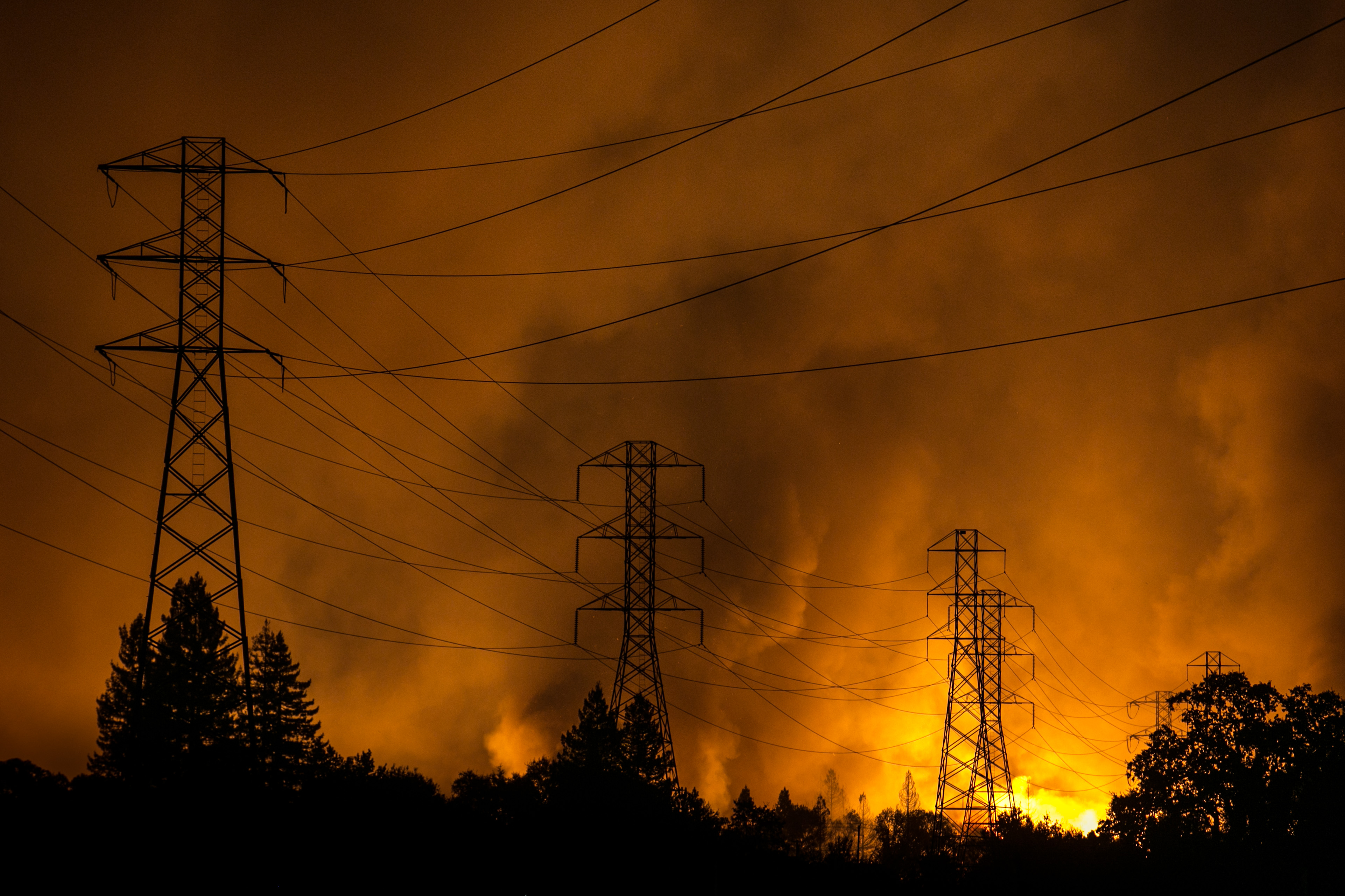 Destructive Wildfires Burn California Wine Country