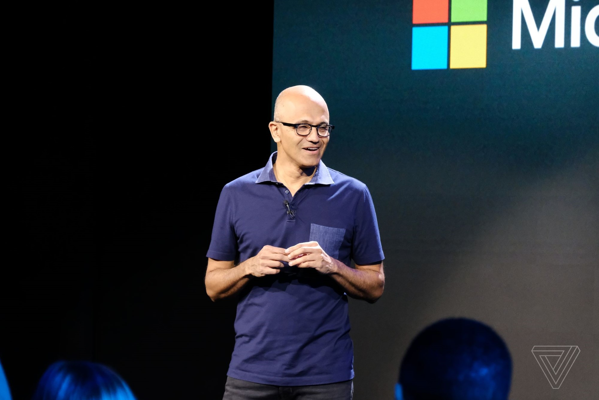 Satya Nadella at the 2019 Microsoft Surface event