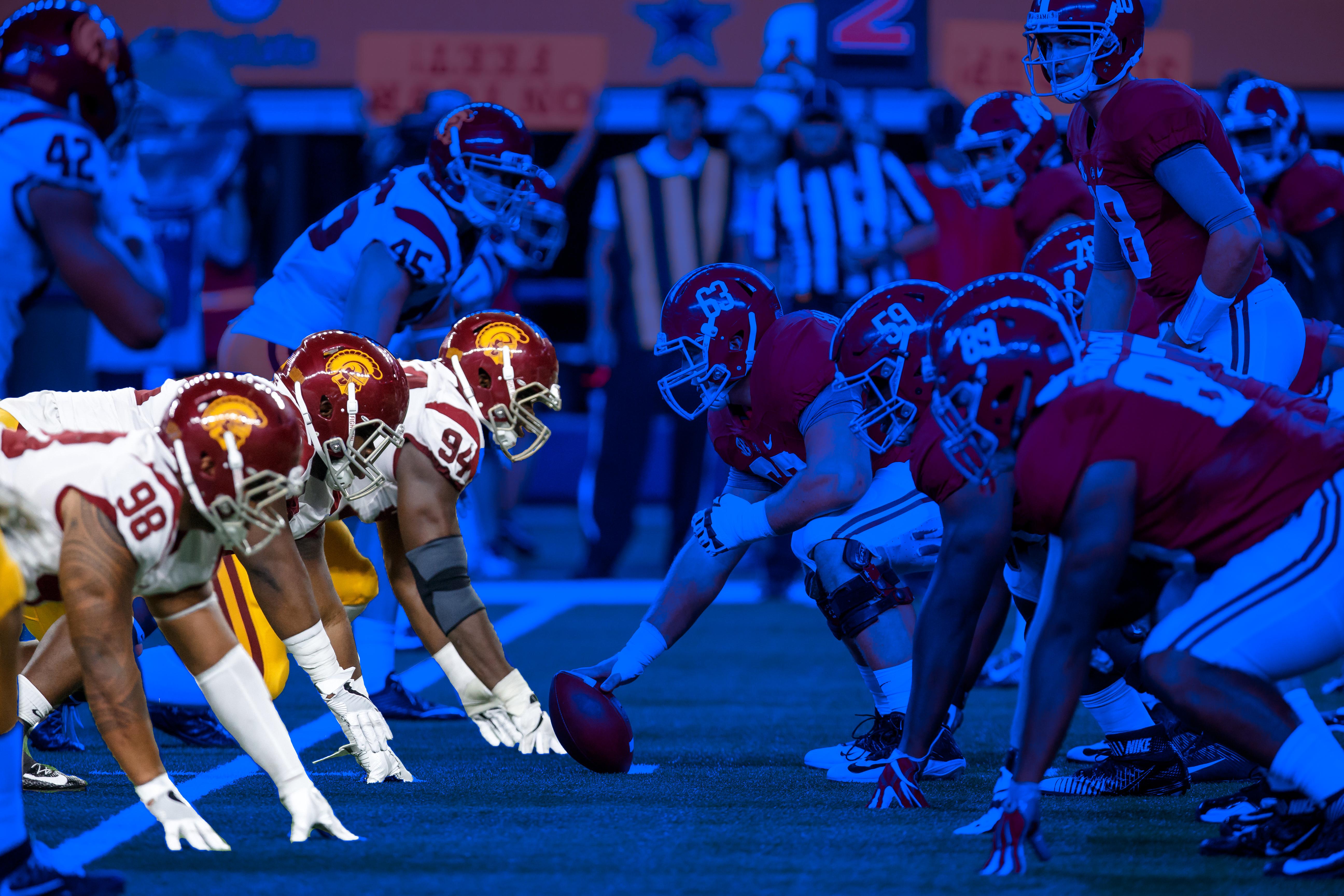 USC defensive linemen vs. Alabama
